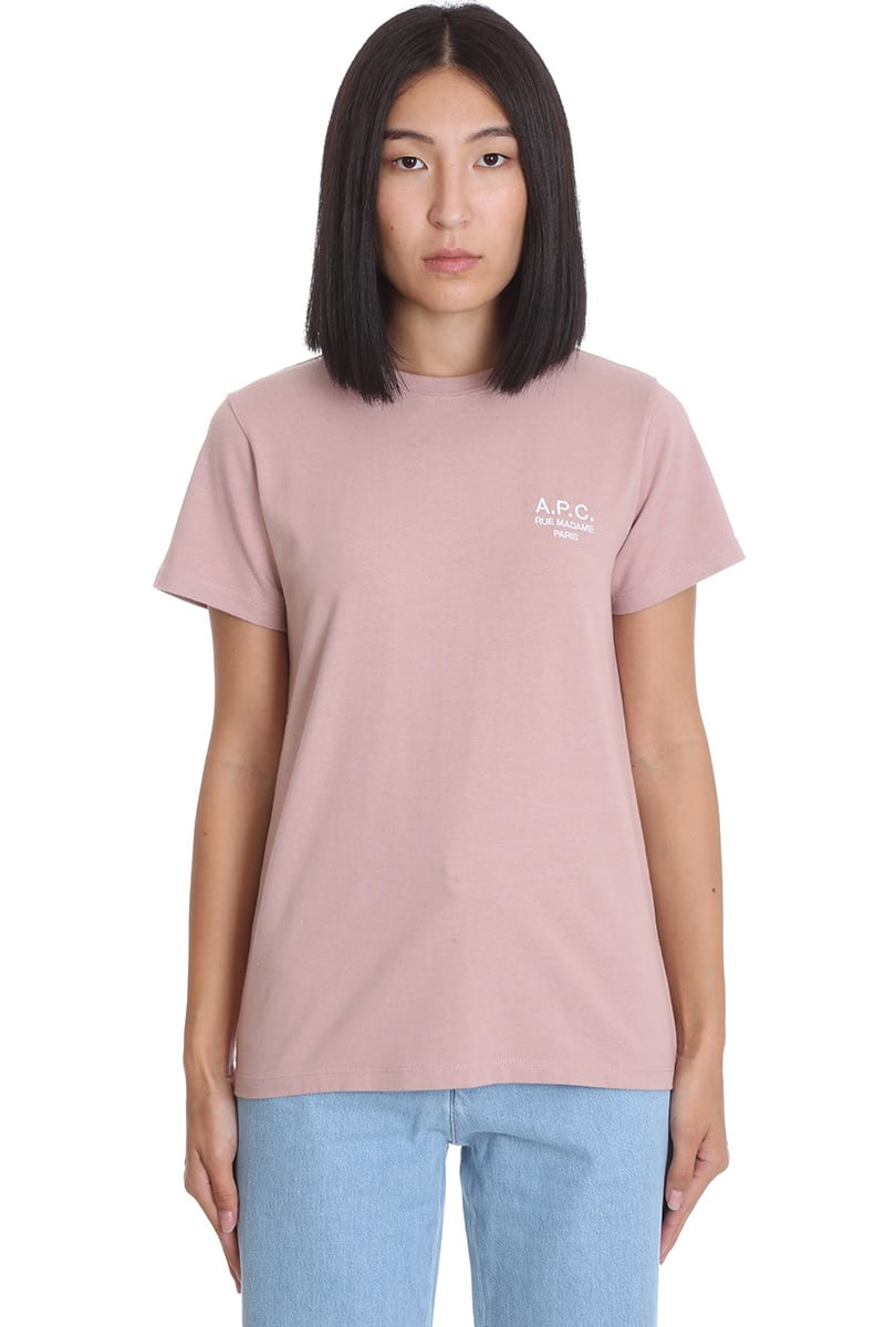 A.P.C. Denise T-shirt In Rose-pink Cotton