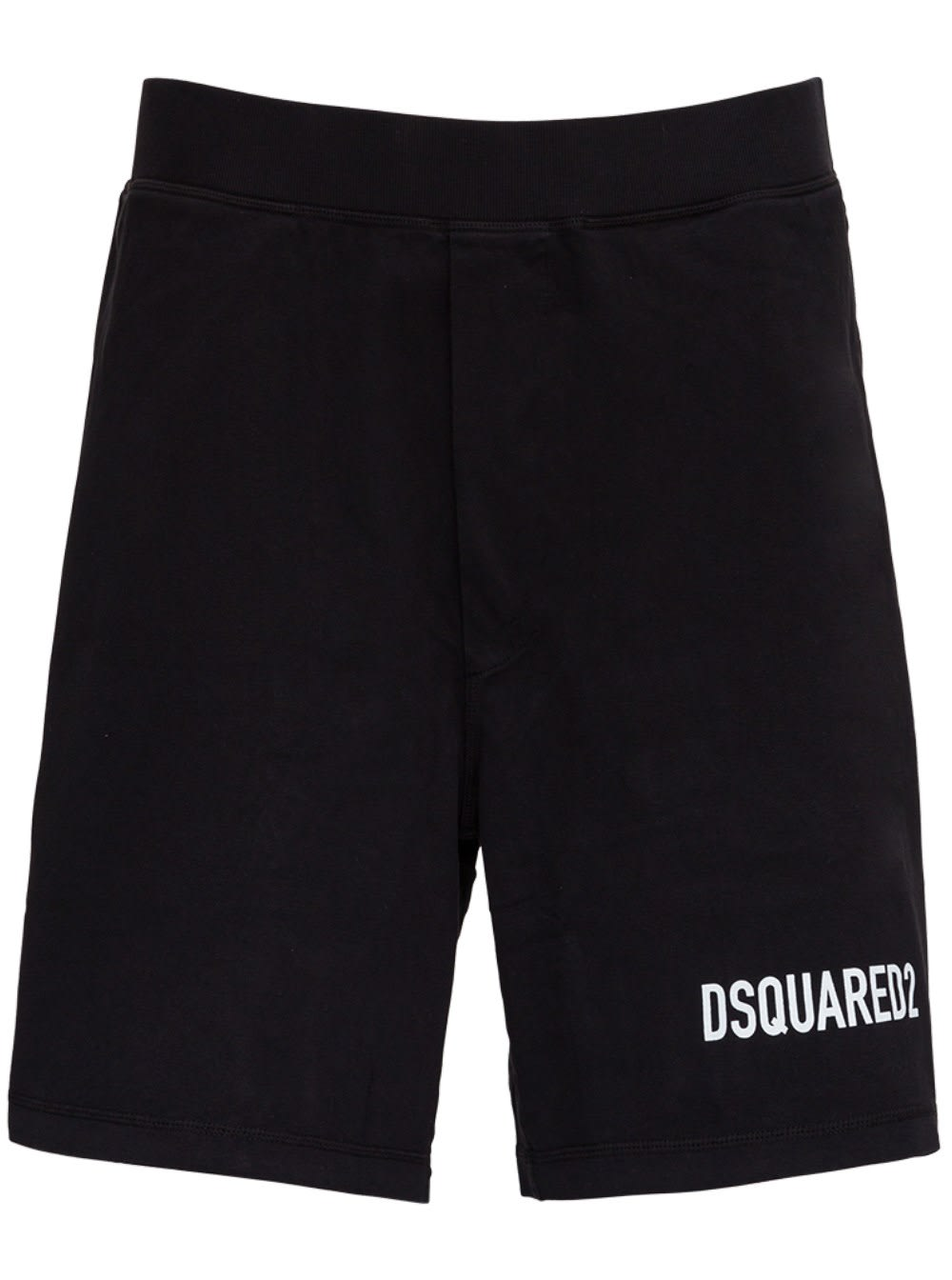 Dsquared2 Icon Bermuda Shorts In Black Jersey