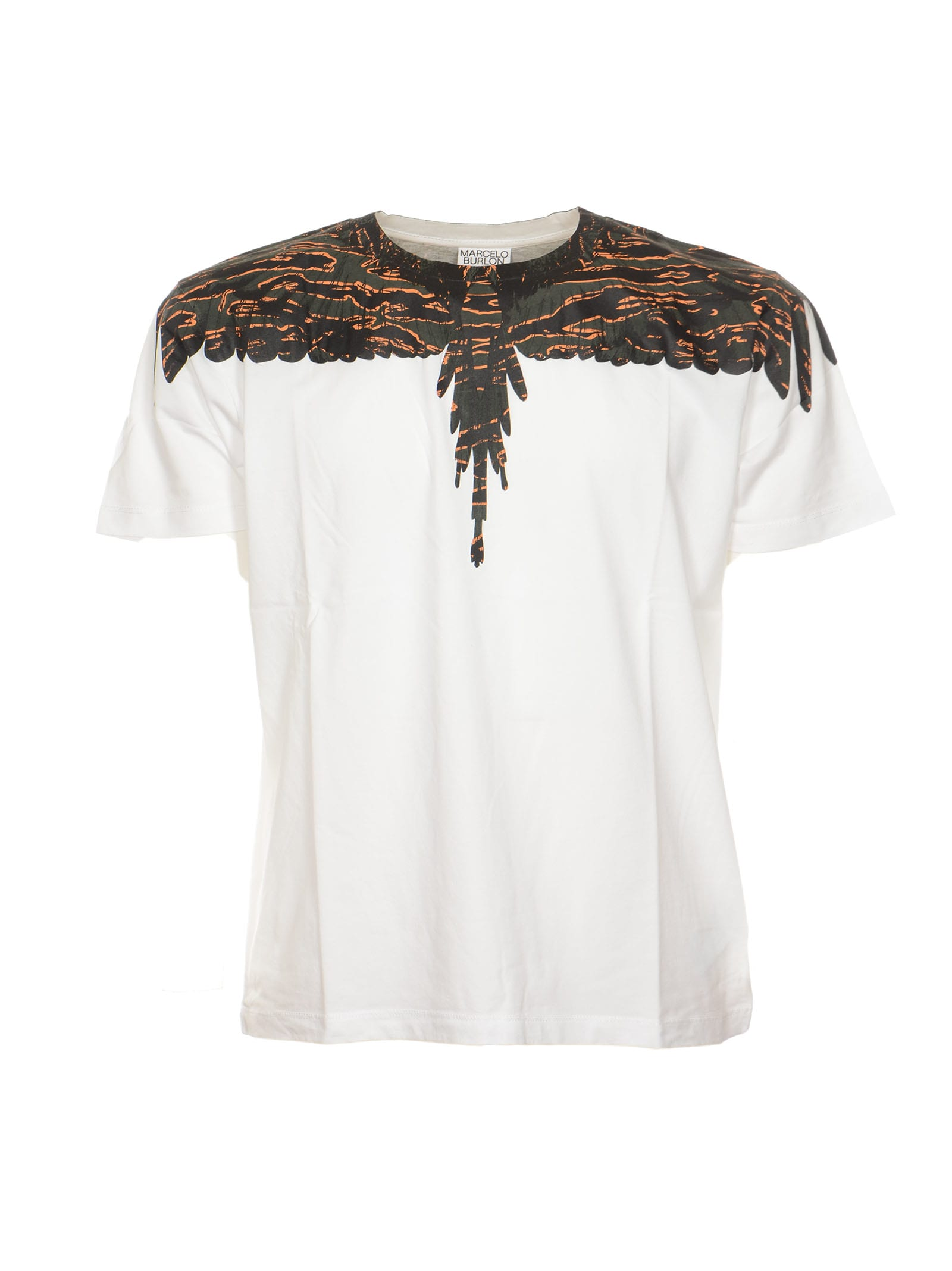 Marcelo Burlon County Of Milan Wings T-shirt In White Army