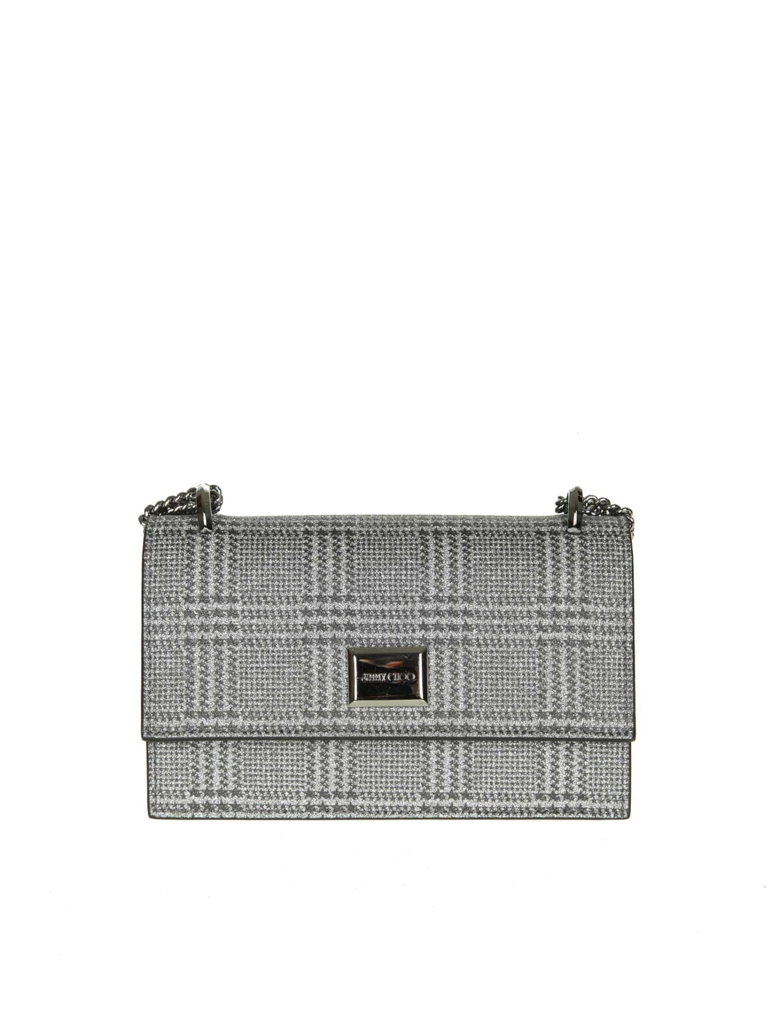 fashion style of 2019 first rate choose best Jimmy Choo Leni Clutch In Fabric Glitter Color Silver