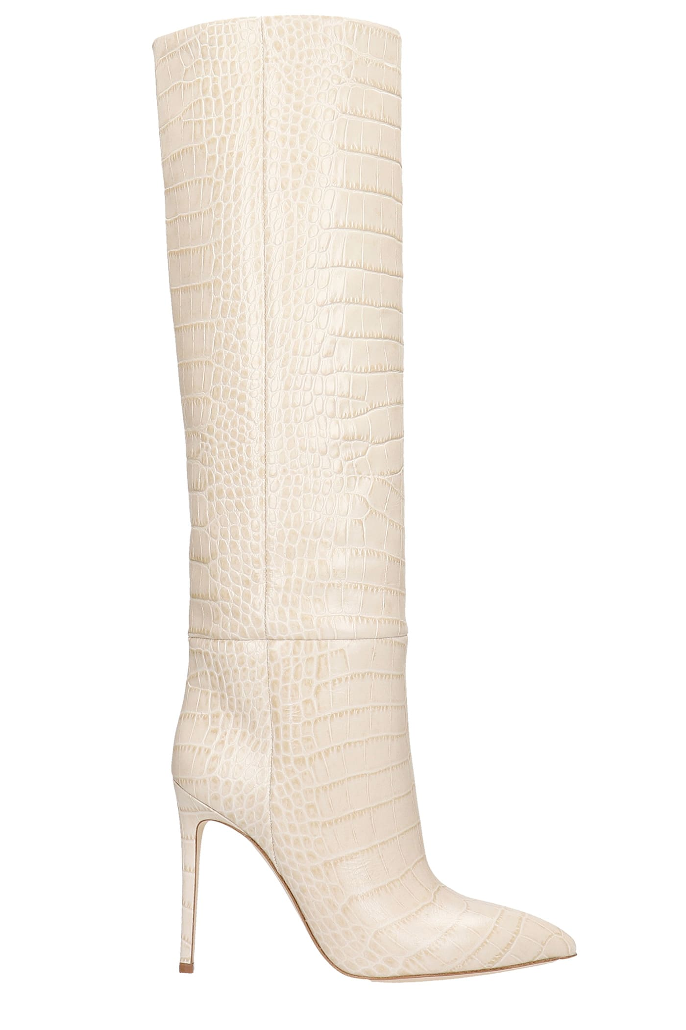 Paris Texas Leathers HIGH HEELS BOOTS IN BEIGE LEATHER