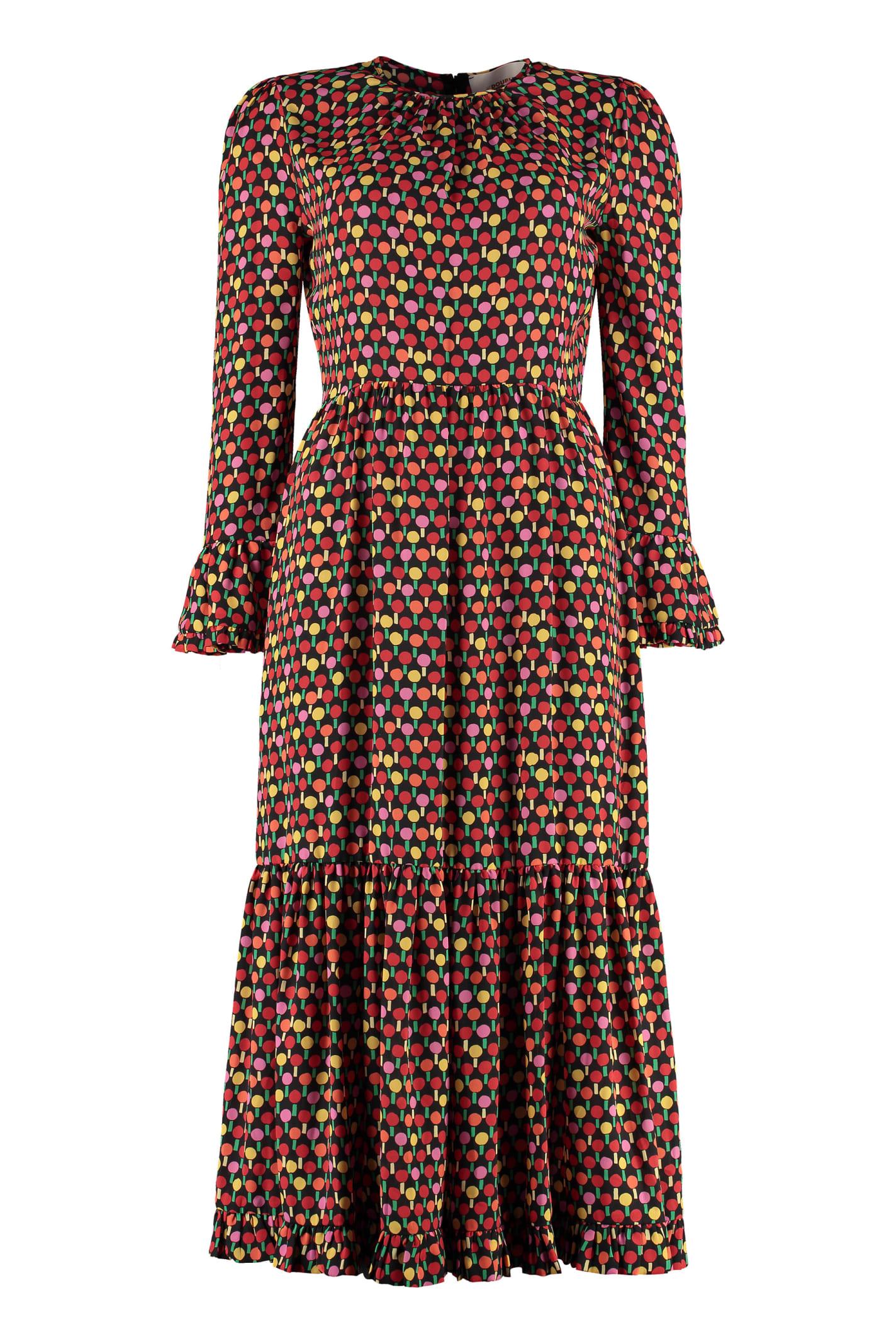 La DoubleJ Floral Print Crêpe Dress