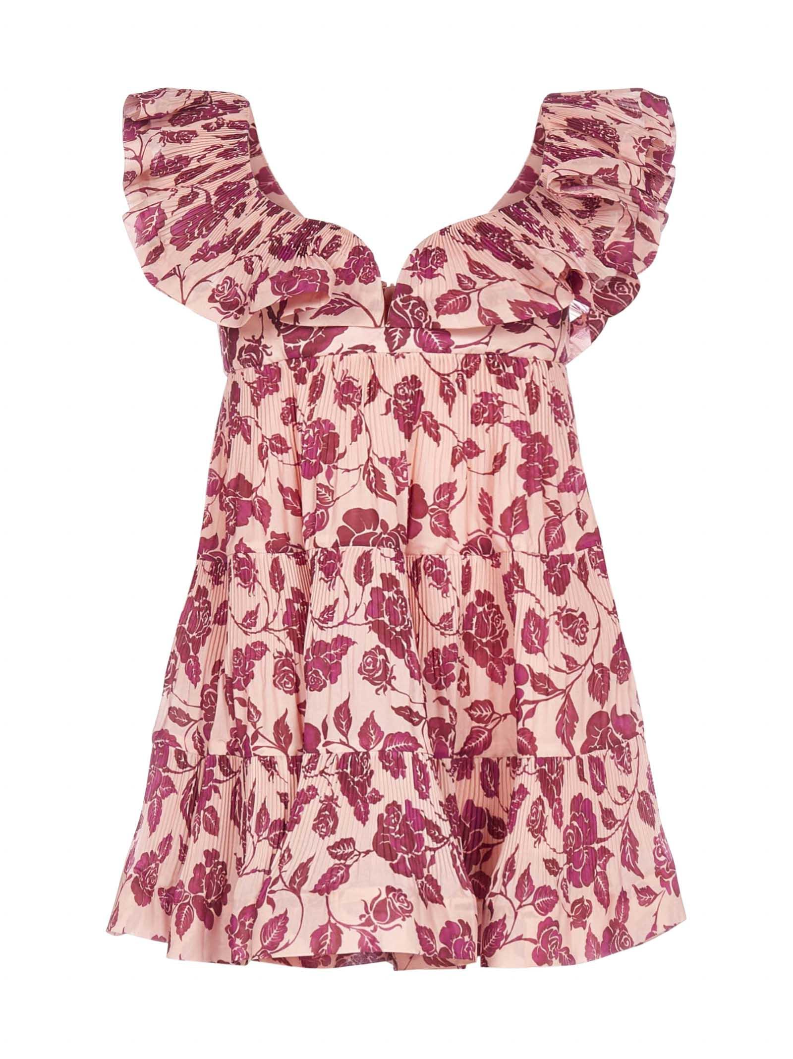 Buy Zimmermann The Lovestruck Floral Print Mini Dress online, shop Zimmermann with free shipping