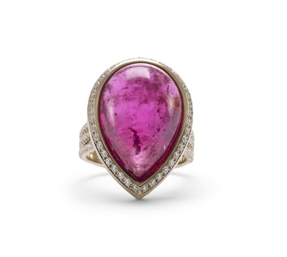 Lo Spazio Jewelry Lo Spazio Rubellite Ring In Pink