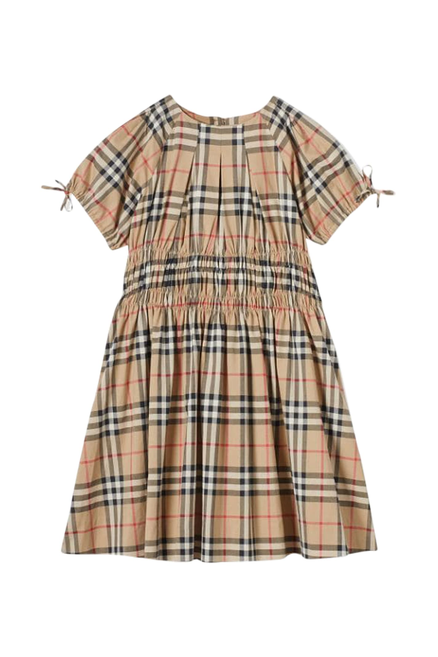 Buy Burberry Kids Ruches Dress online, shop Burberry with free shipping