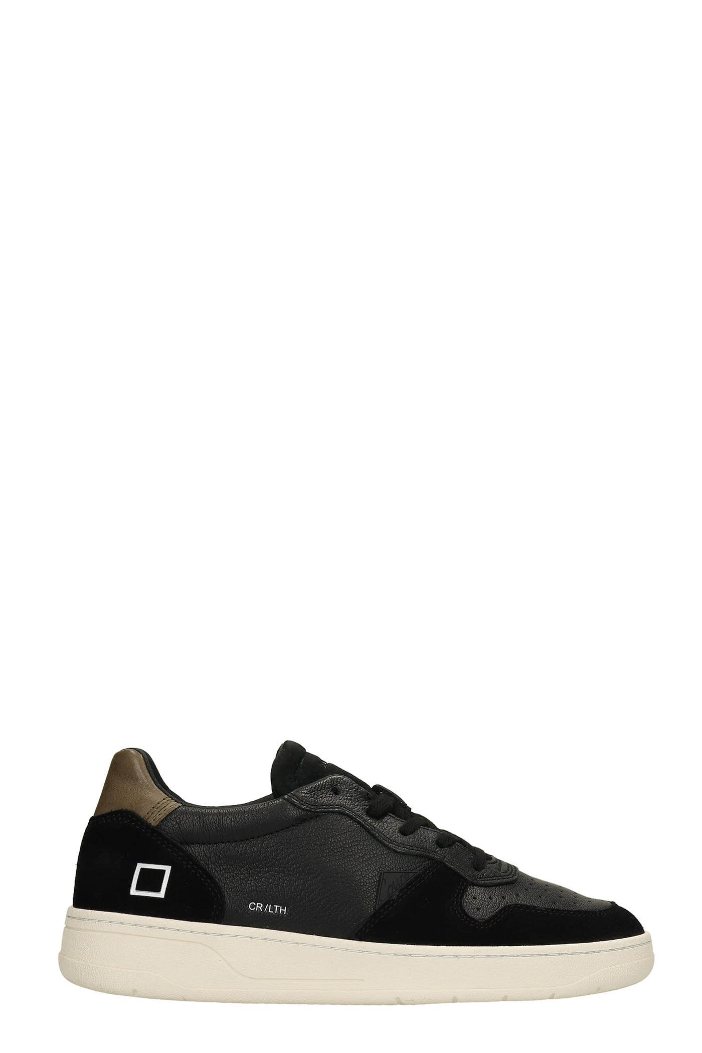Court Sneakers In Black Suede And Leather