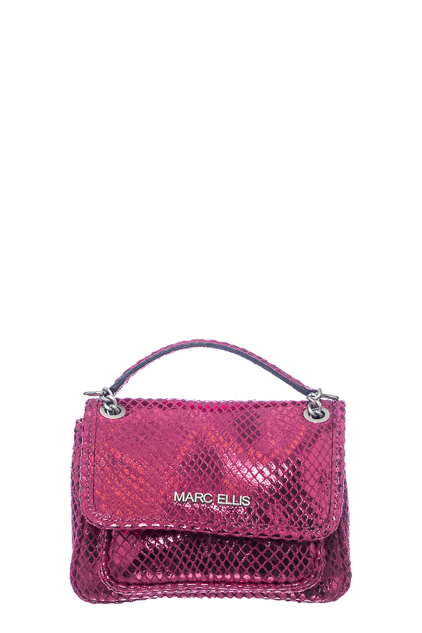 Rhonda S Shoulder Bag In Fuxia Leather