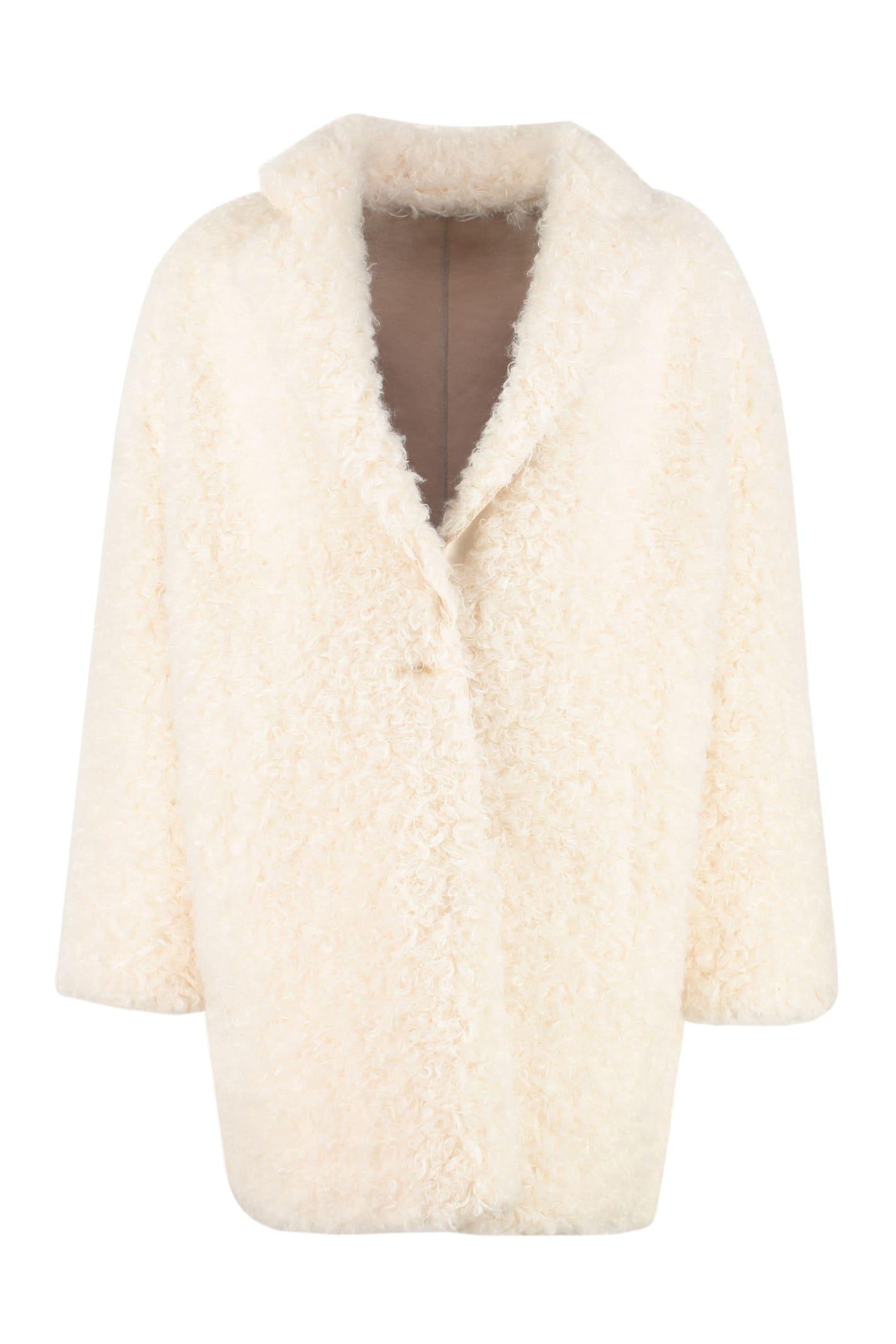 Pinko Lavare Faux Fur Coat