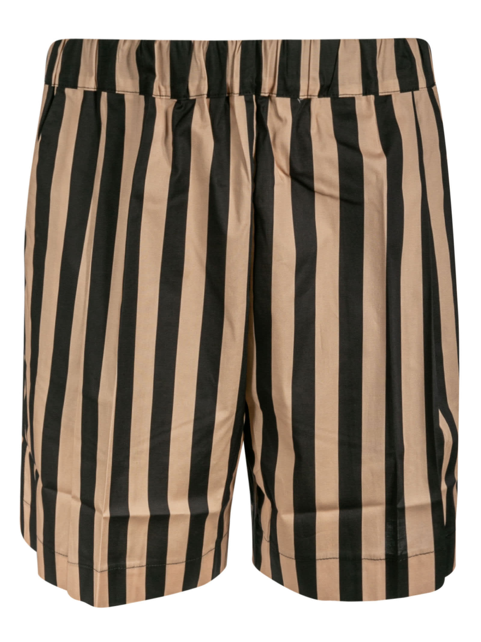 Laneus Shorts STRIPE PRINT SHORTS