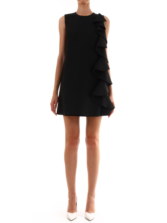 Valentino Crepe Couture Dress Black