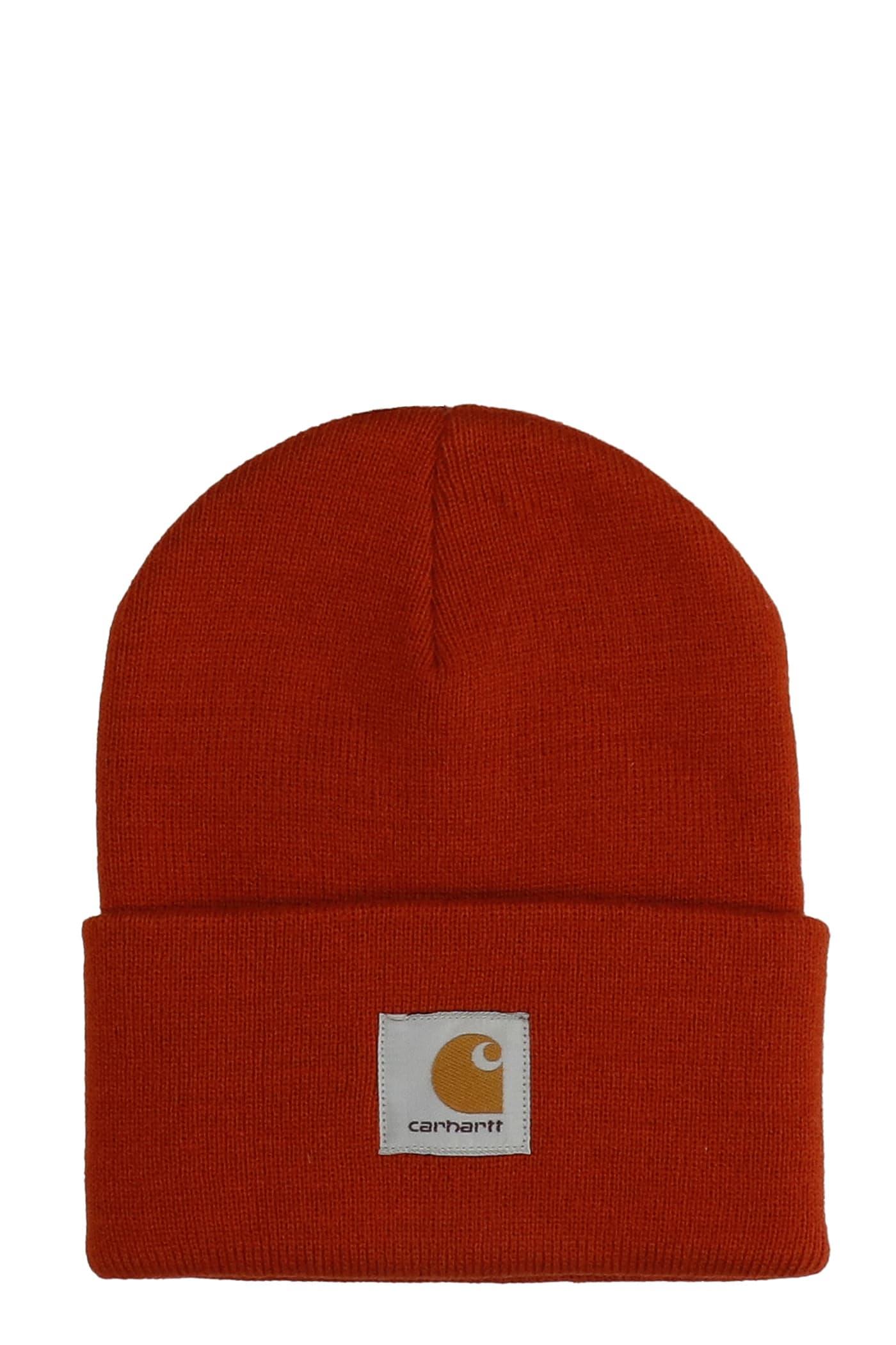 Hats In Orange Acrylic