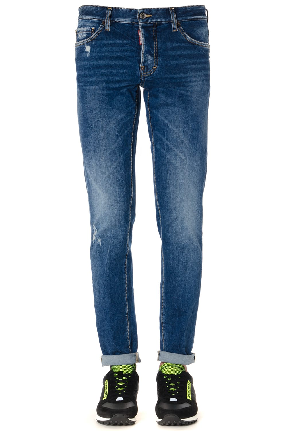 Dsquared2 Stone Washed Denim Cotton Jeans