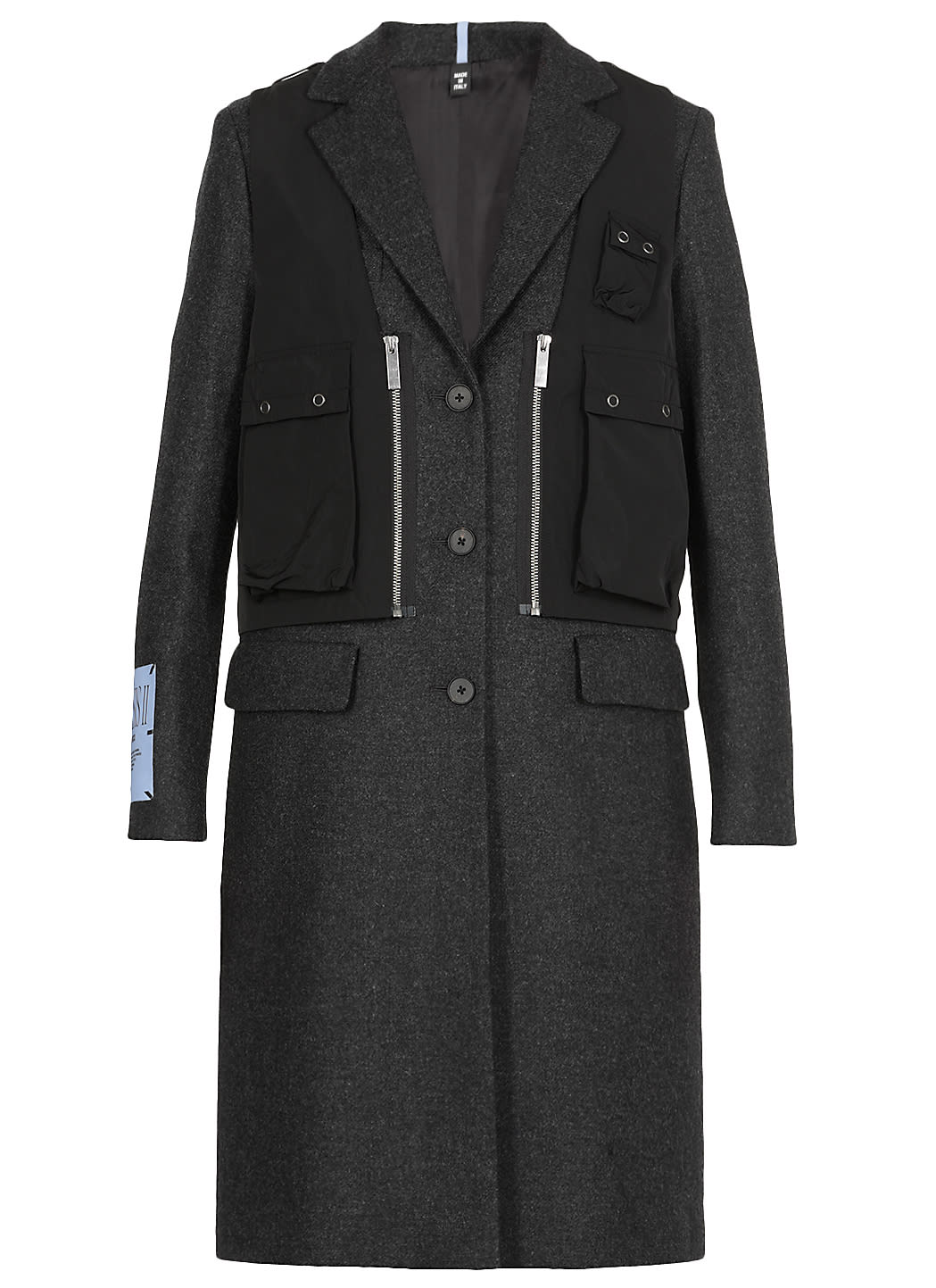 McQ Alexander McQueen Mono Breasted Wool Coat
