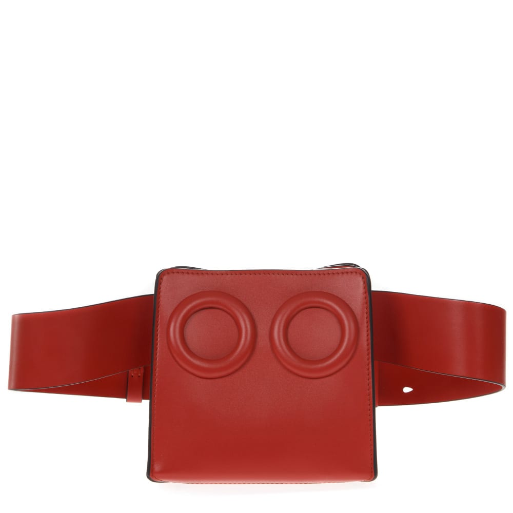 Deon Red Leather Beltbag