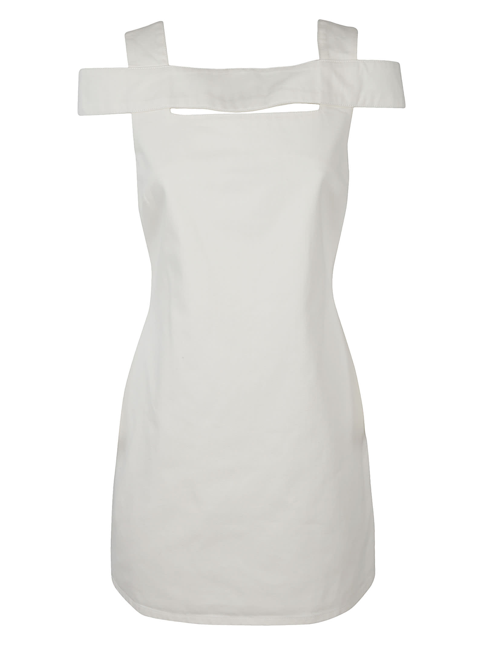 Givenchy Cottons REAR ZIP OPEN BACK DRESS