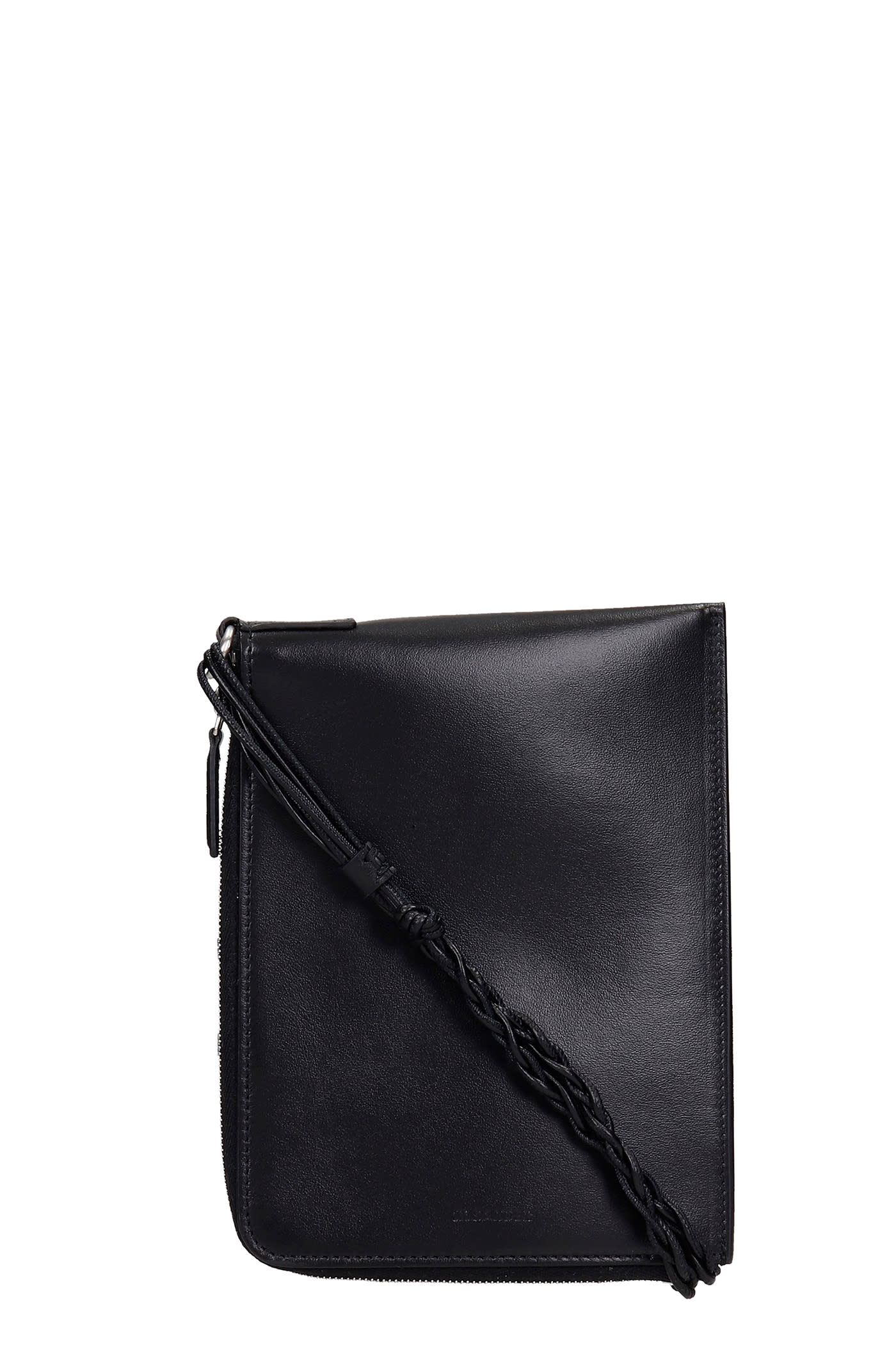 Jil Sander Shoulder Bag In Black Leather