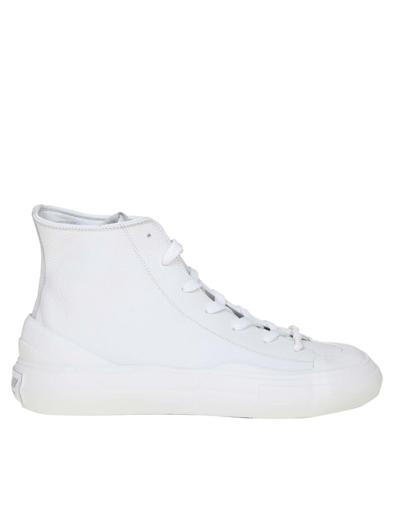 High Sneakers In White Leather
