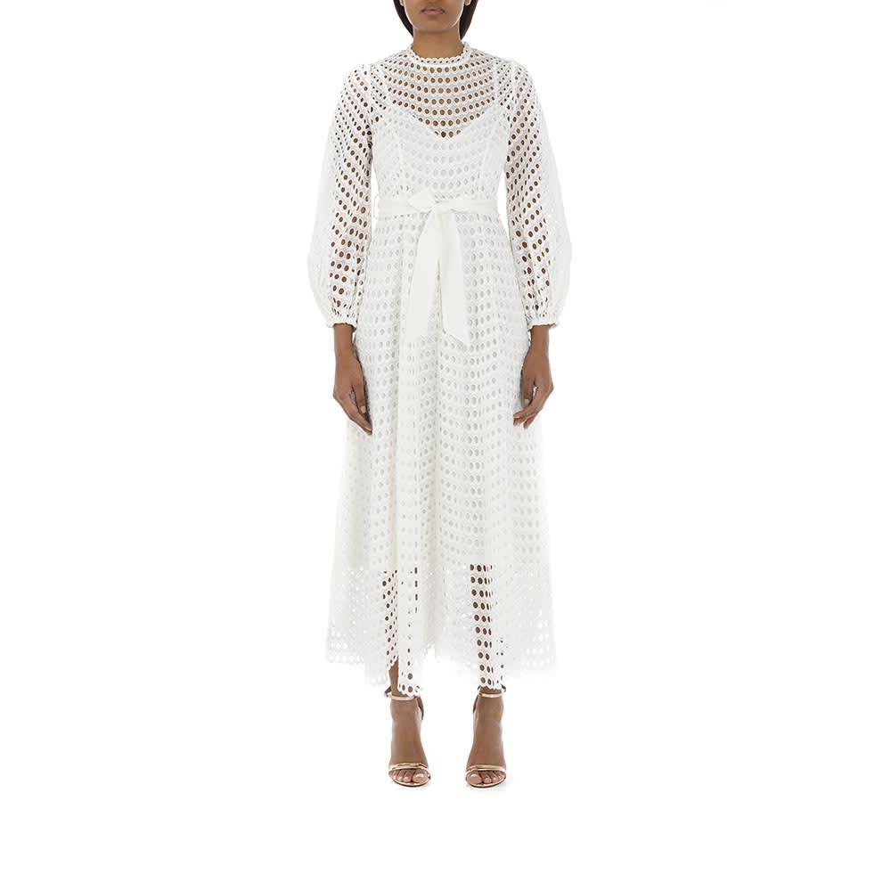 Buy Poppy Eyelet Midi Dress online, shop Zimmermann with free shipping