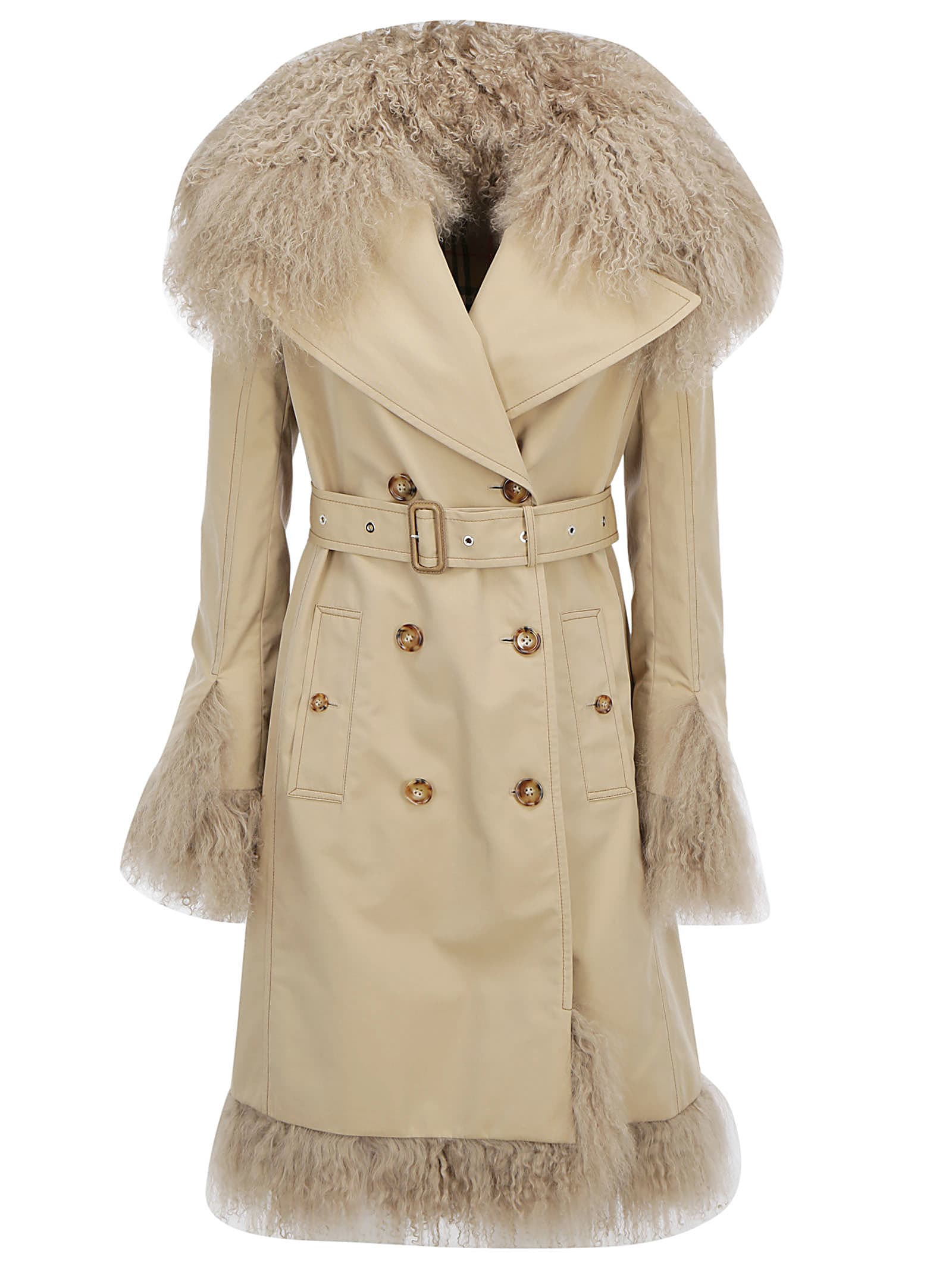 Photo of  Burberry Fur Trench Coat- shop Burberry jackets online sales