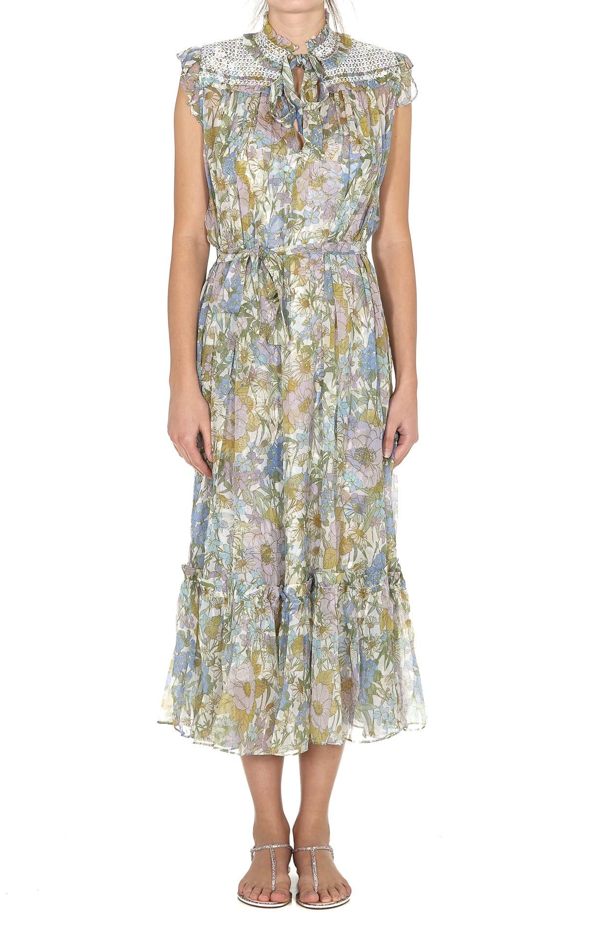 Buy Zimmermann Super Eight Sleeveless Dress online, shop Zimmermann with free shipping