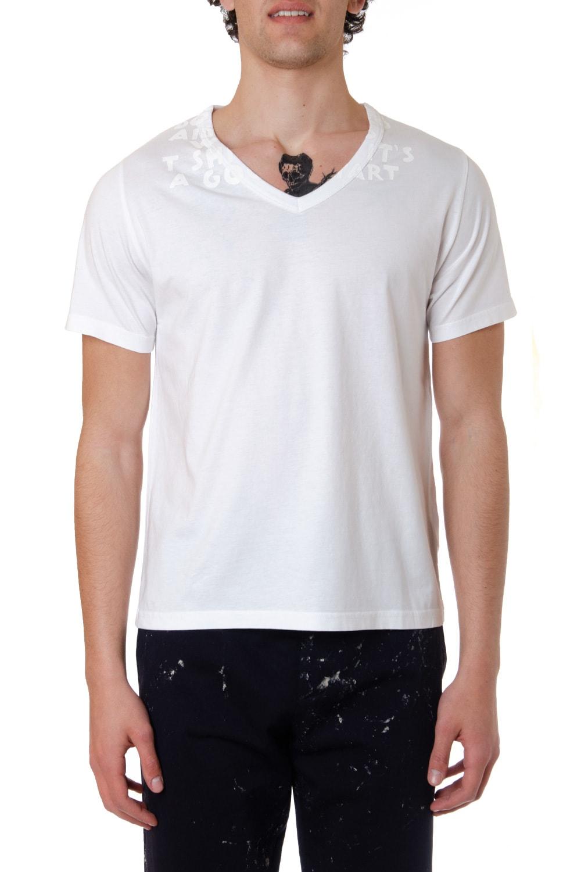 Maison Margiela V-neckline Cotton T-shirt