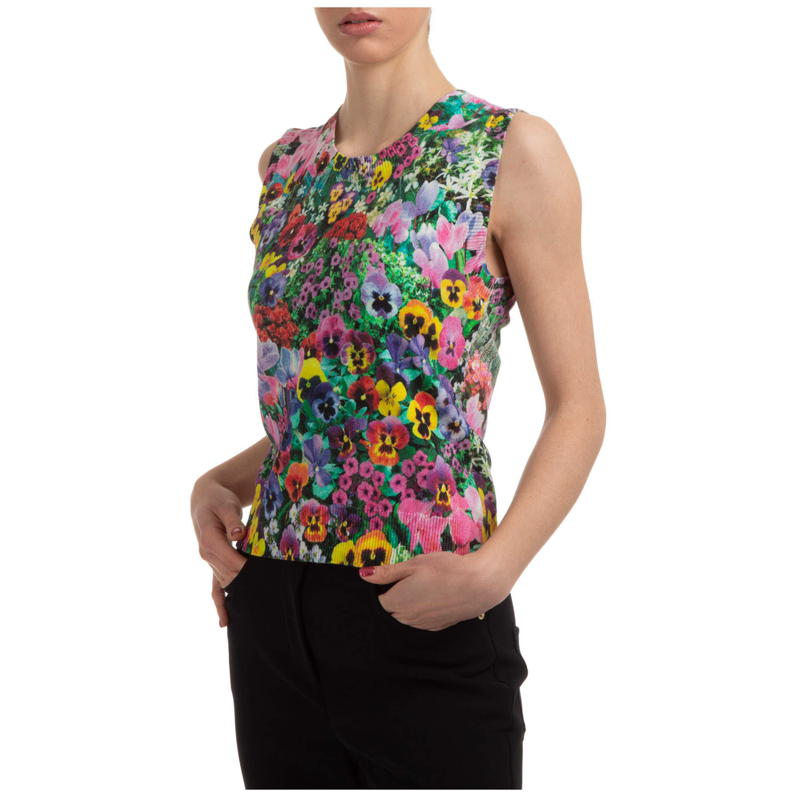 Boutique Moschino Cottons DOUBLE QUESTION MARK TOP