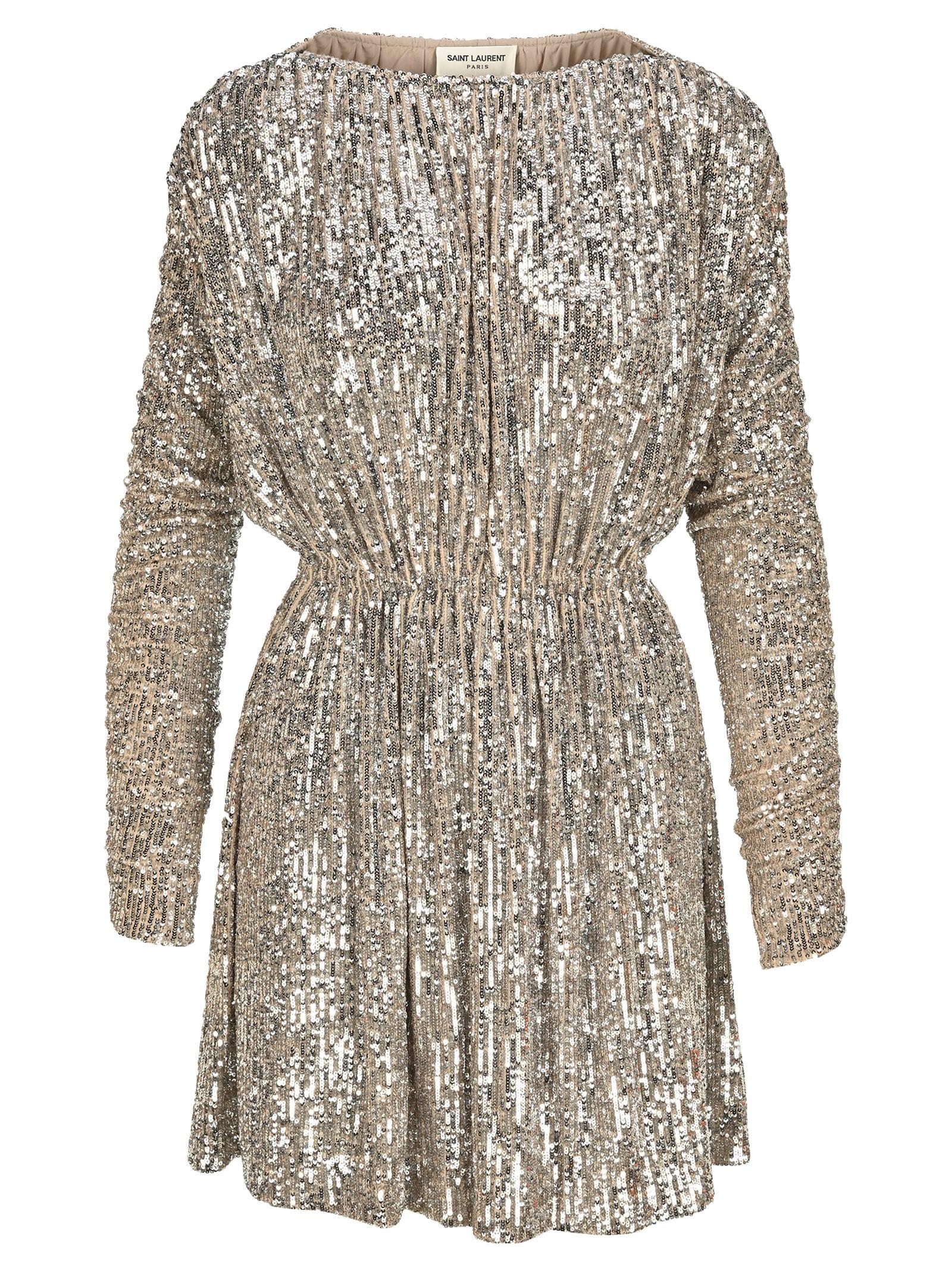 Saint Laurent Sequin Dress