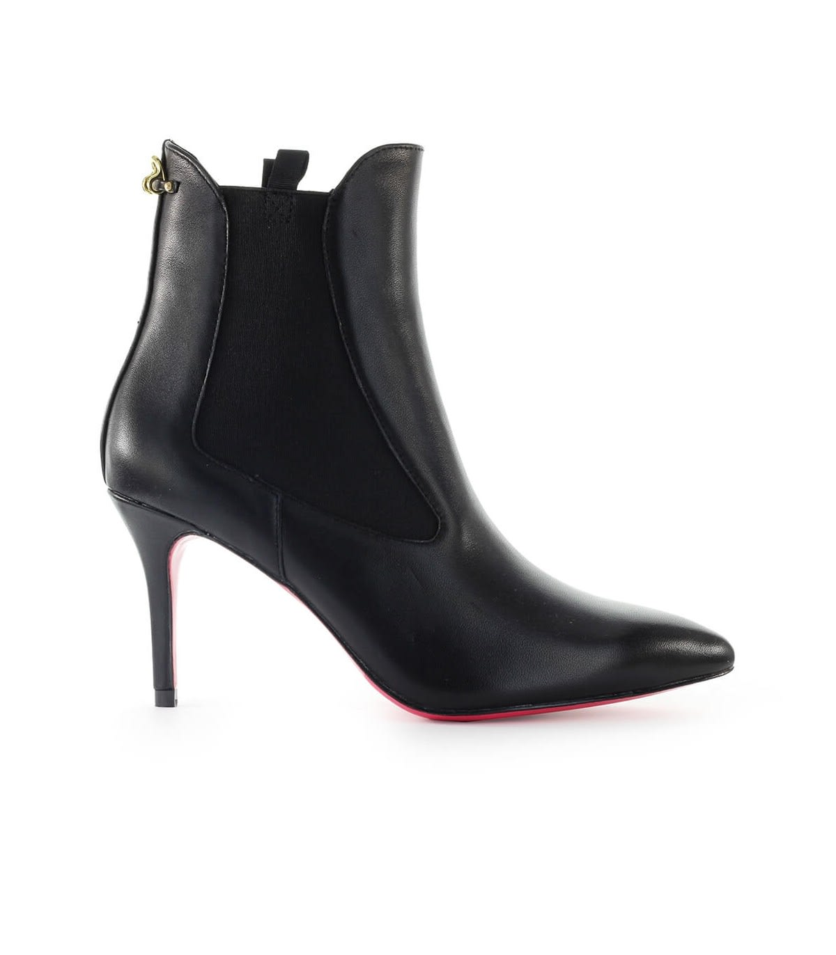 Pinko Bracciano Black Leather Ankle Boot