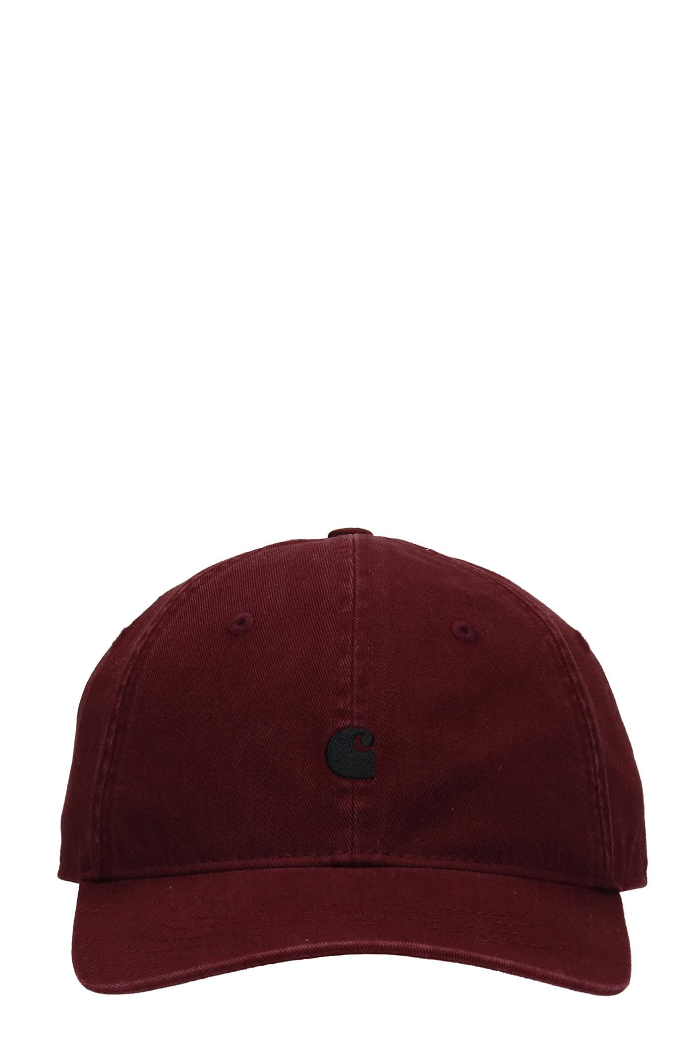 Hats In Bordeaux Cotton