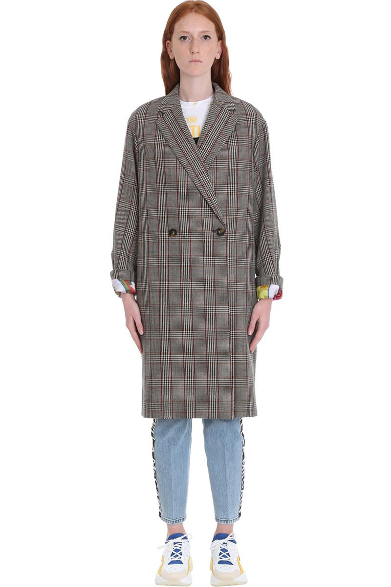 Stella McCartney Blackwood All Together Now Coat In Grey Wool