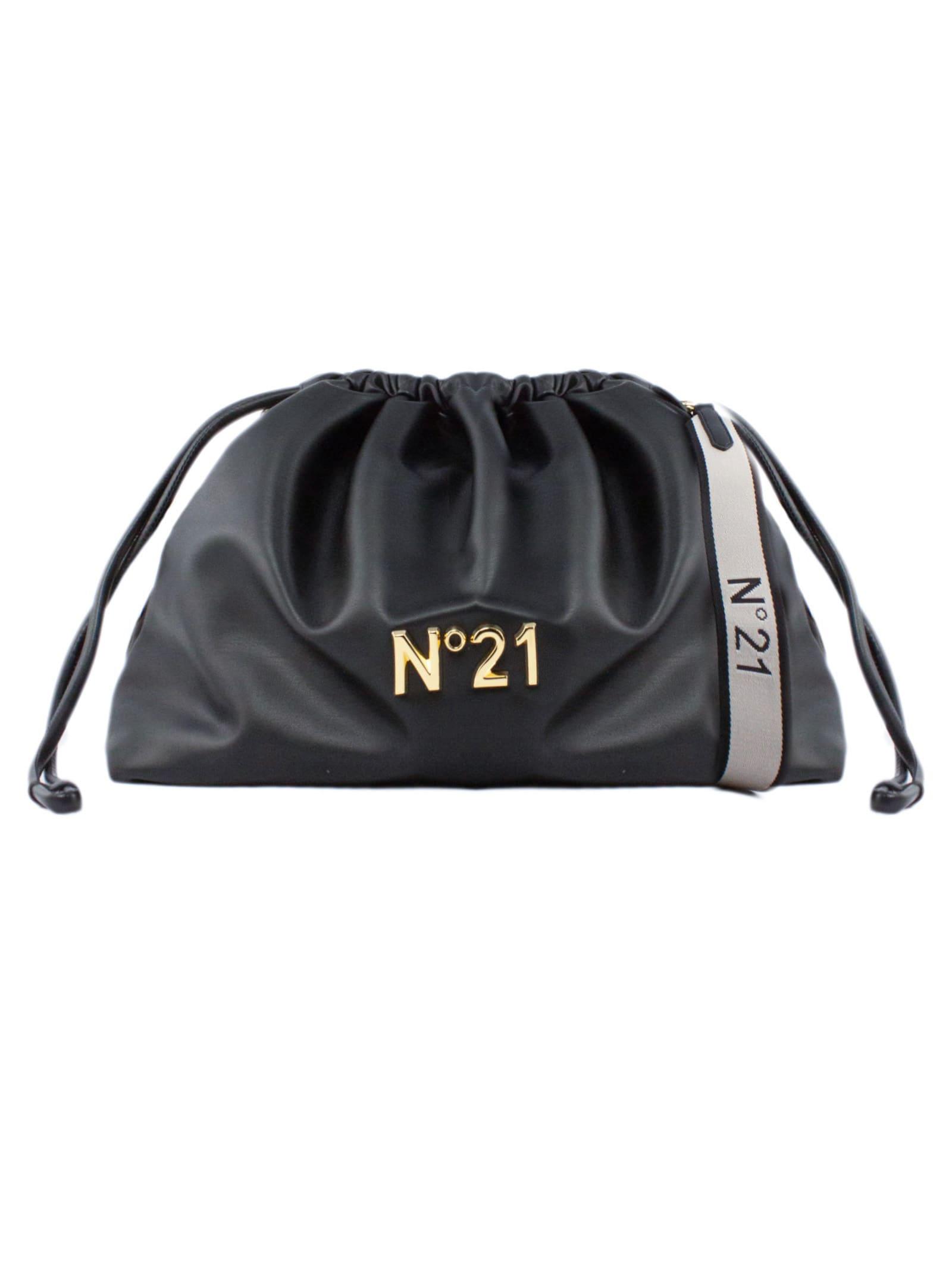 N.21 Large Black Eco-leather Shoulder Bag