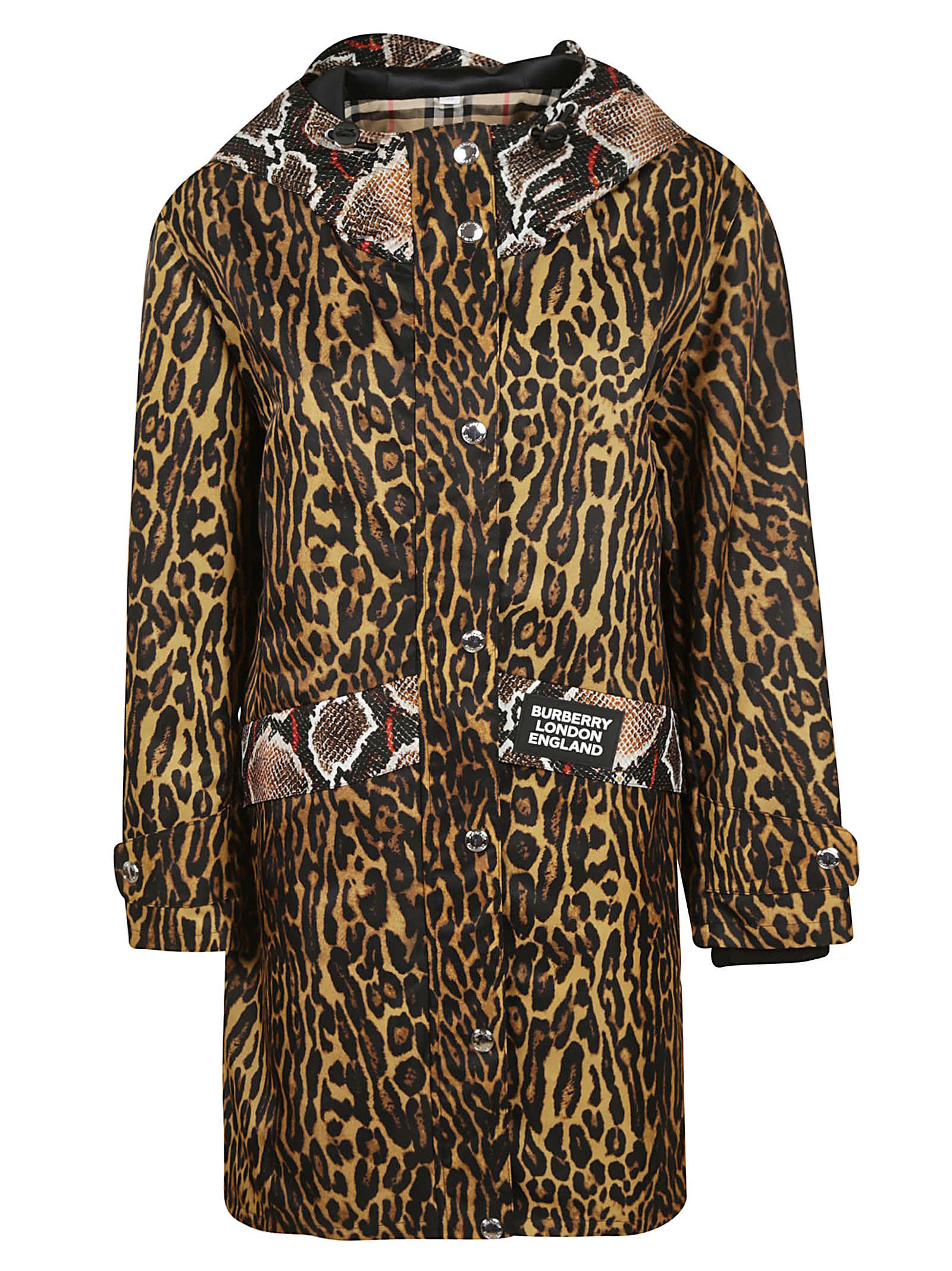 Burberry Leopard Skin-effect Coat