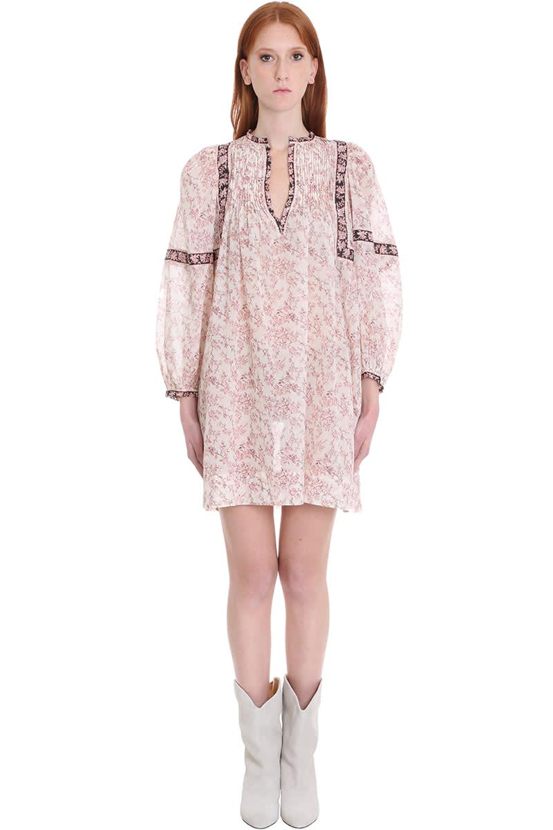 Buy Isabel Marant Étoile Virginie Dress In Beige Cotton online, shop Isabel Marant Étoile with free shipping