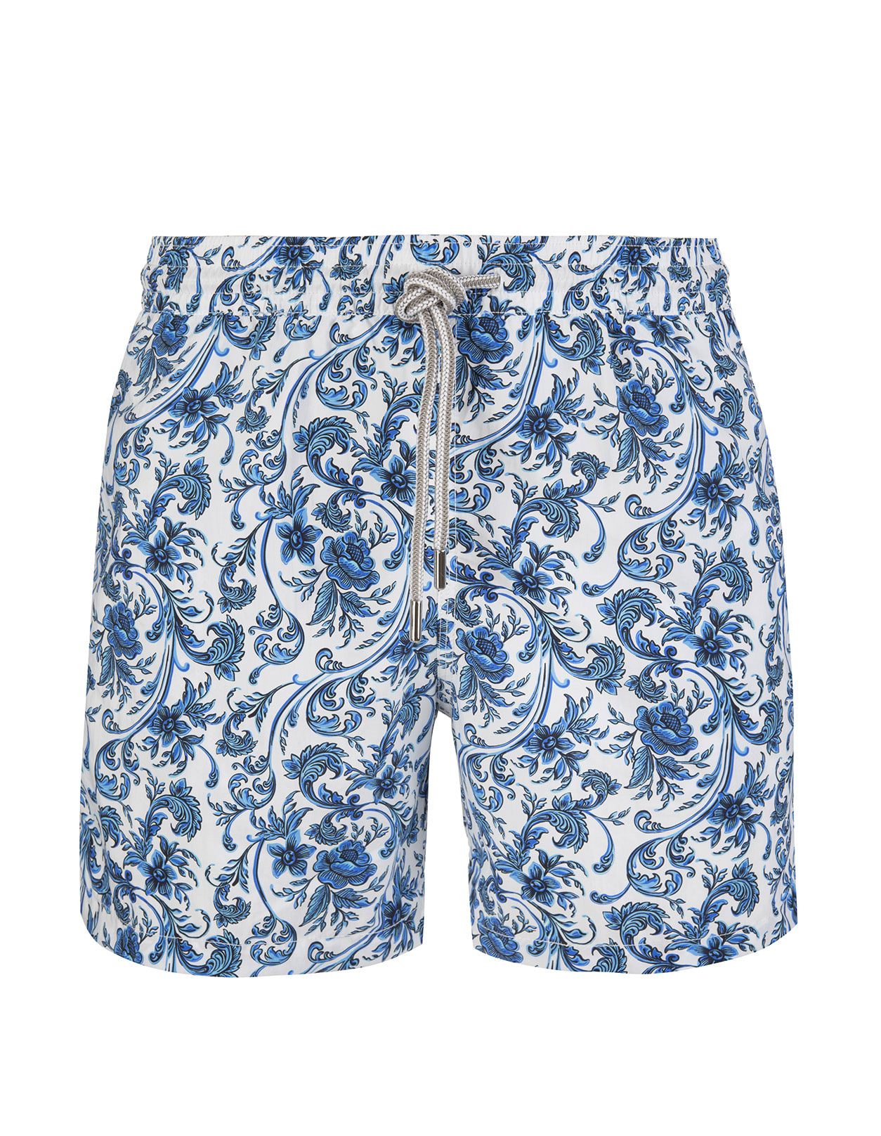 Blue And White Floral Swimsuit