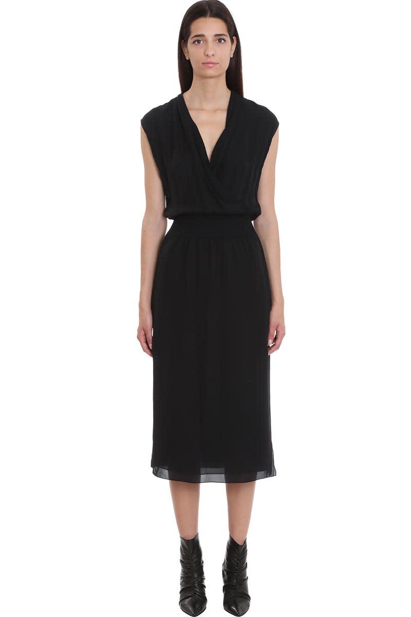 Theory Dress In Black Silk