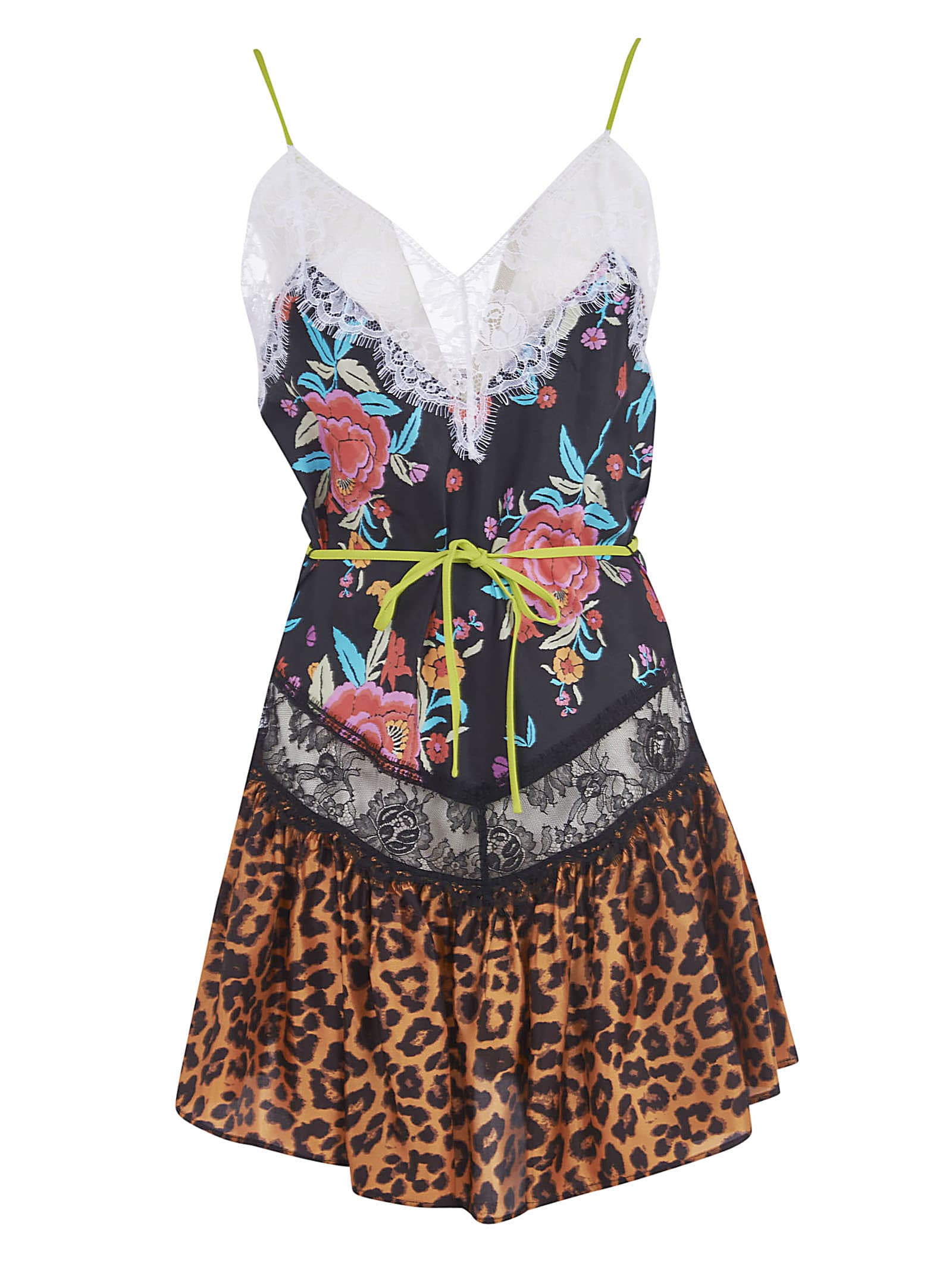 Buy The Attico Leopard Print Floral Print Dress online, shop The Attico with free shipping