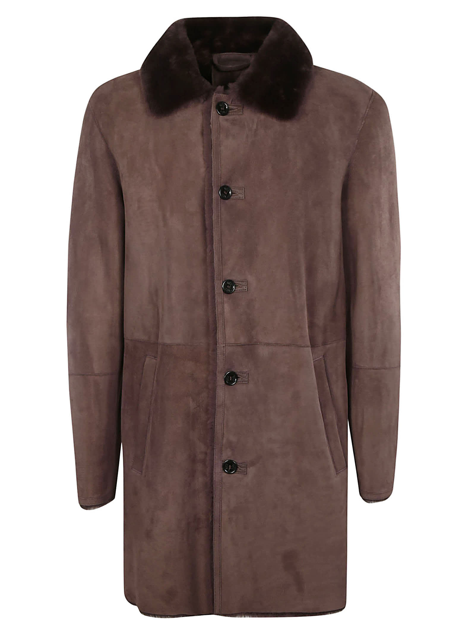 1972 Mid-length Buttoned Coat