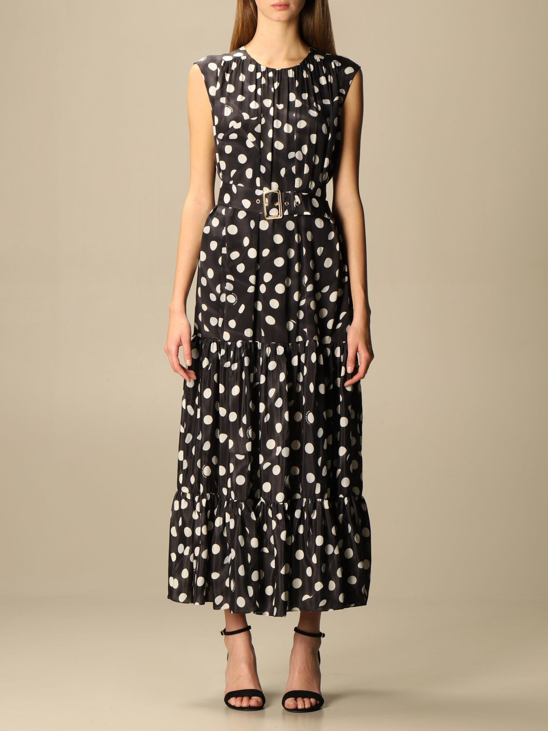 Boutique Moschino Dress Moschino Boutique Long Dress With Polka Dots
