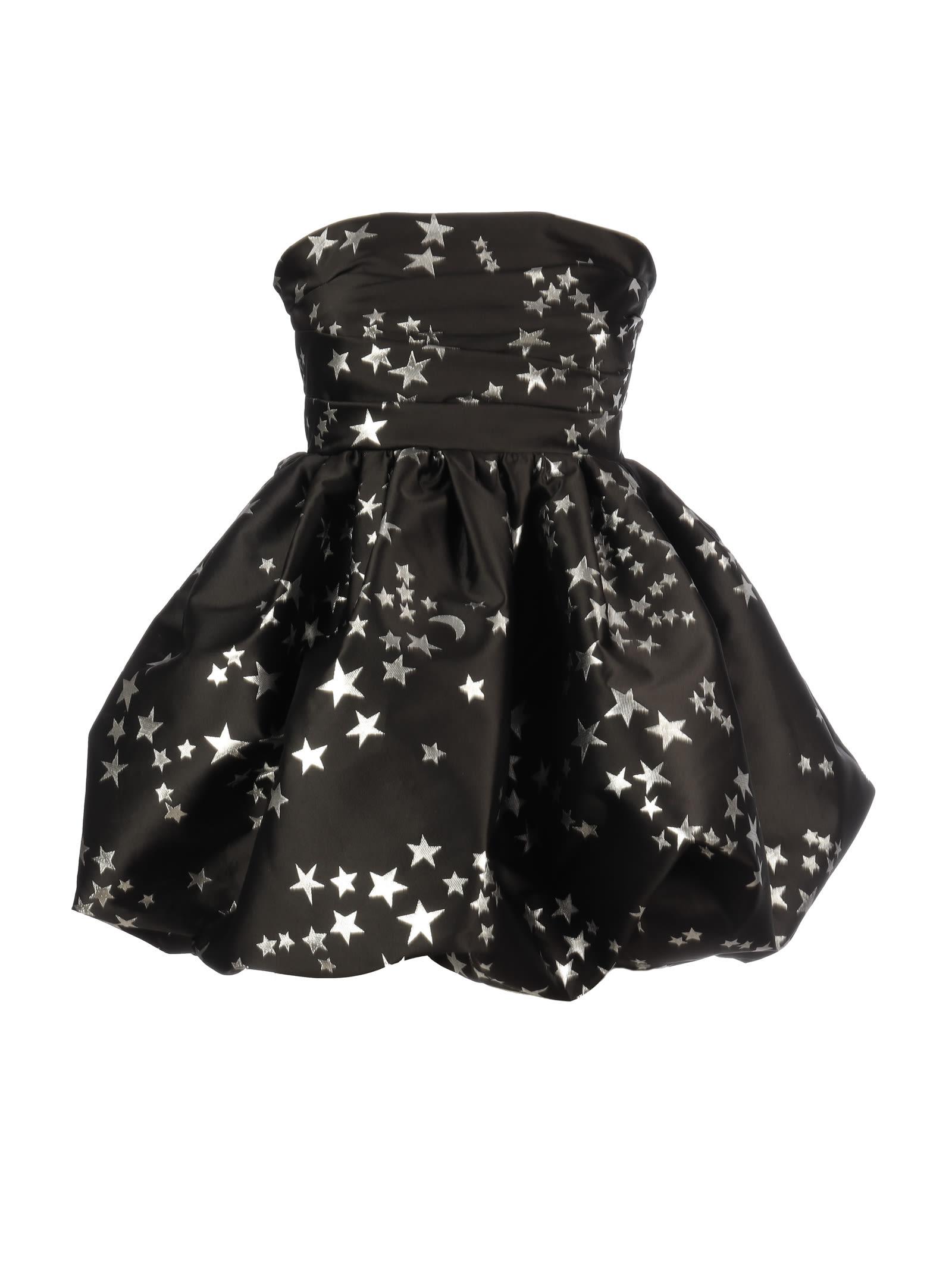 Parosh Mini Dress Decollete` Jacquard
