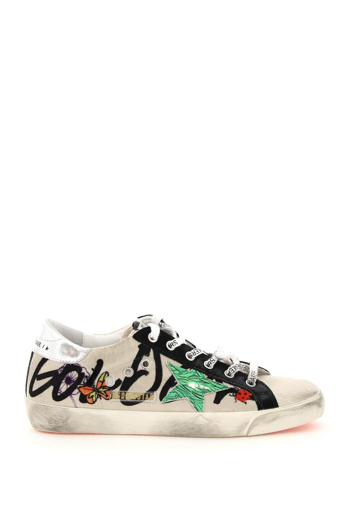 Golden Goose Super Star Sneakers With Print