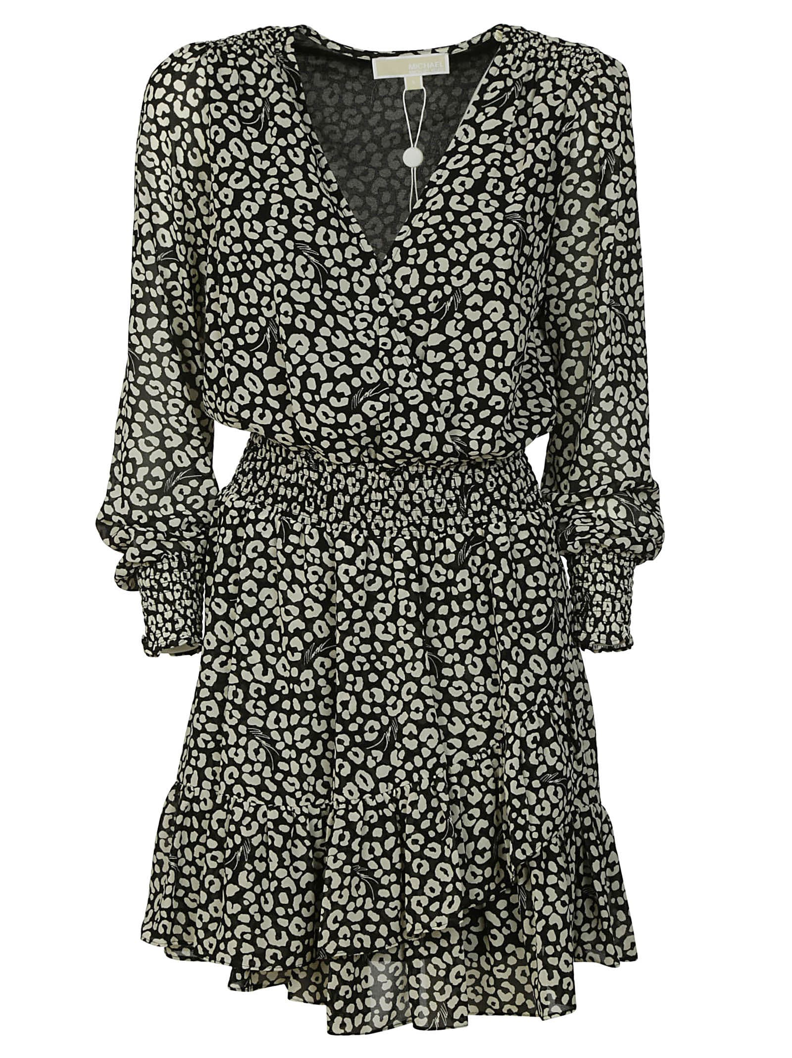 Buy Michael Kors All-over Printed Ruffled Dress online, shop Michael Kors with free shipping