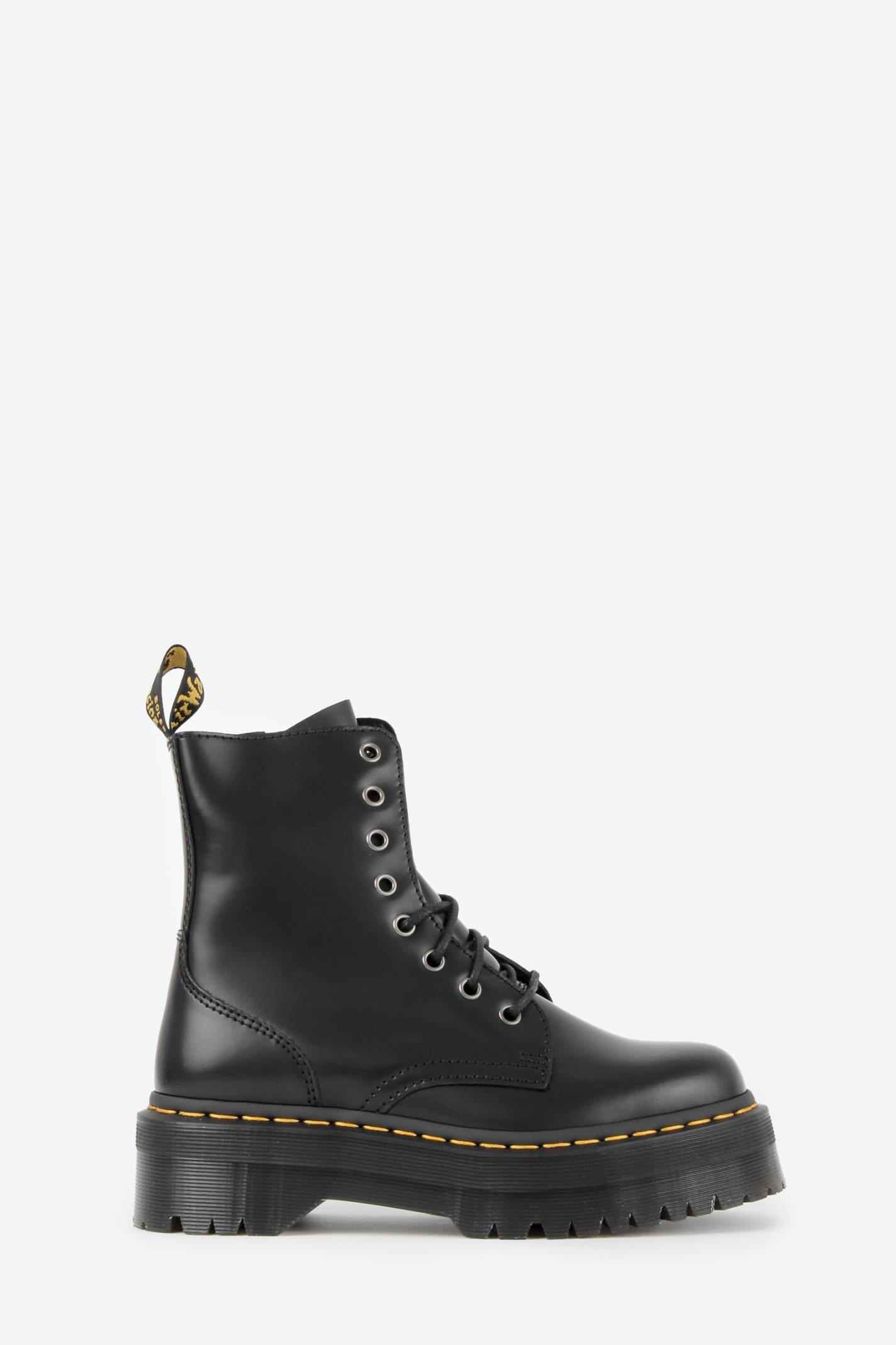 Dr. Martens Jadon Polished Smooth Combat Boots