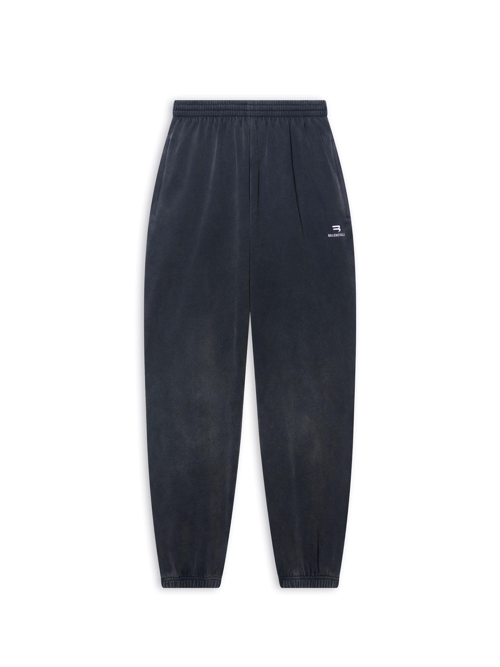 Balenciaga Sweatshirt Pants In Washed Black