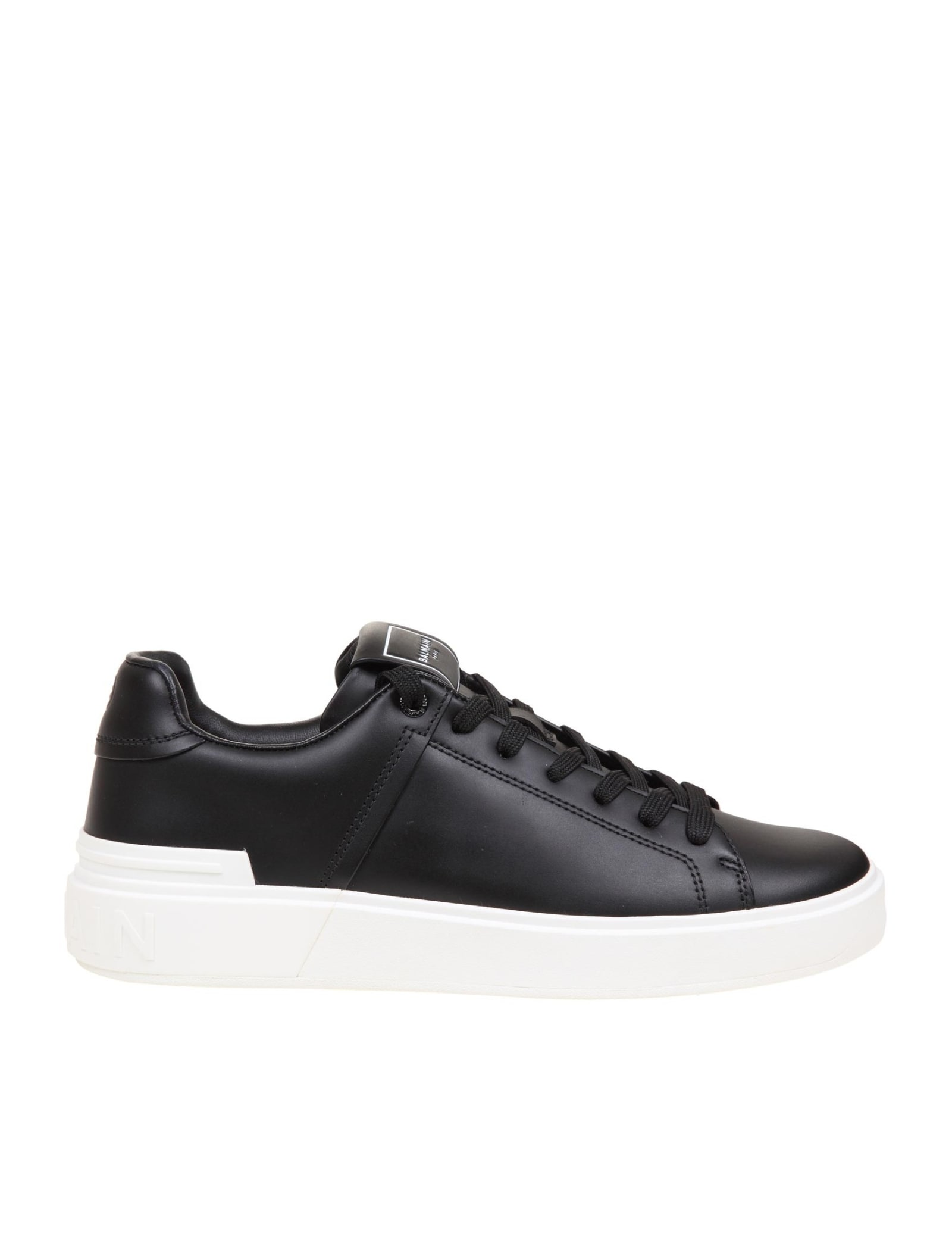 Balmain SNEAKER B COURT IN BLACK LEATHER