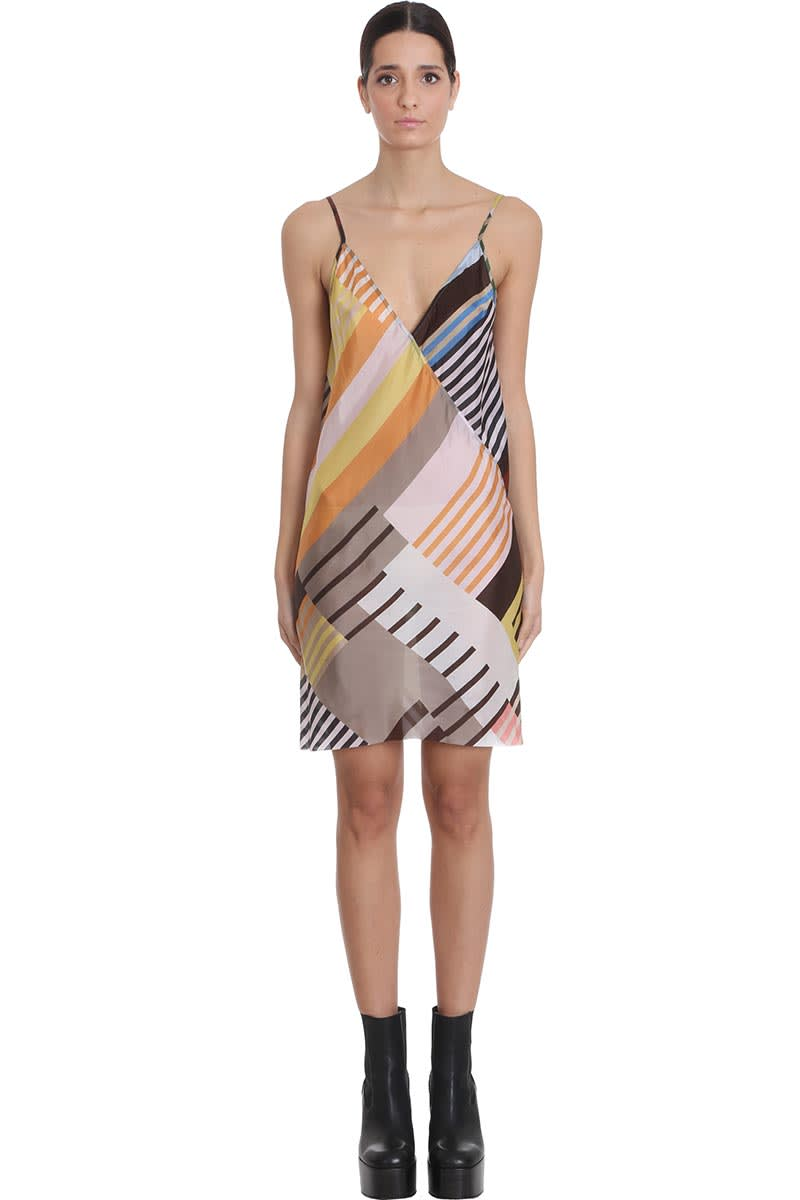 Buy Rick Owens Slip Dress Dress In Multicolor Viscose online, shop Rick Owens with free shipping