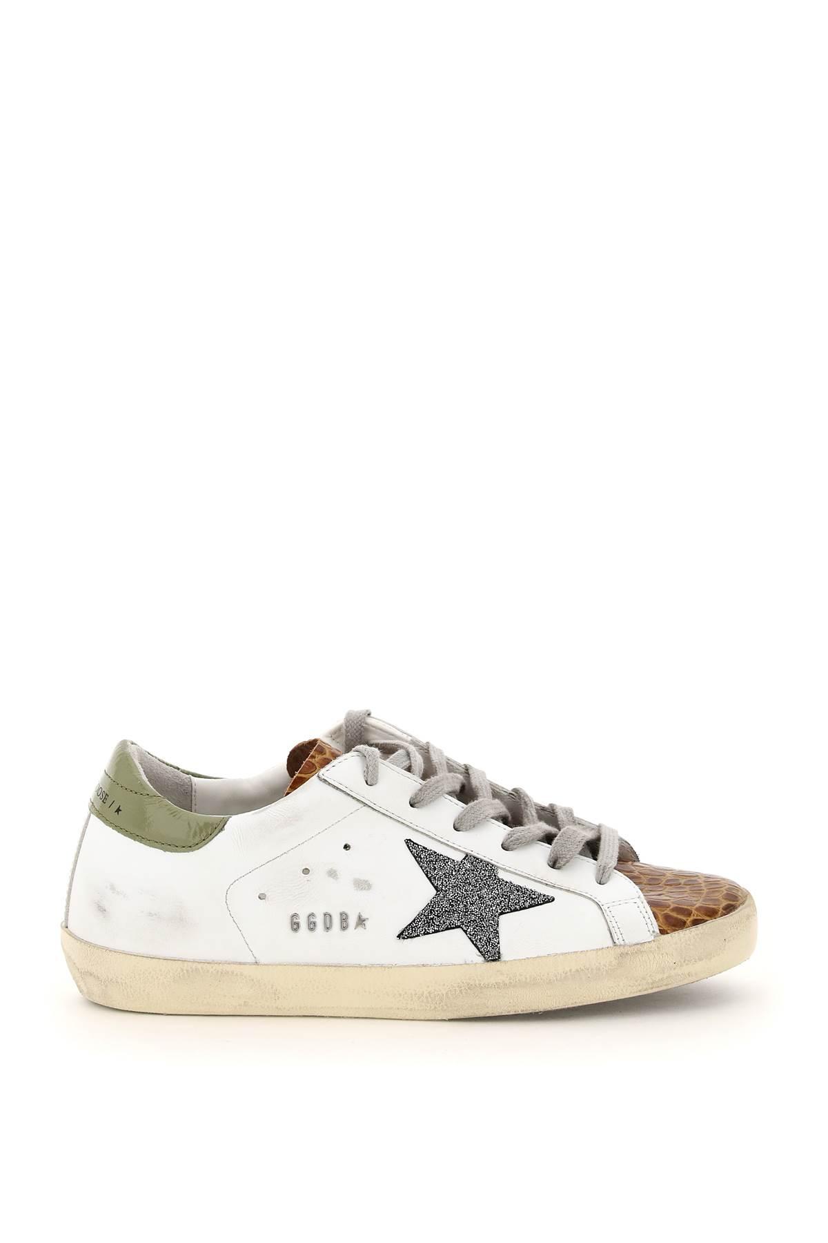 Golden Goose Super Star Sneakers With Swarovski