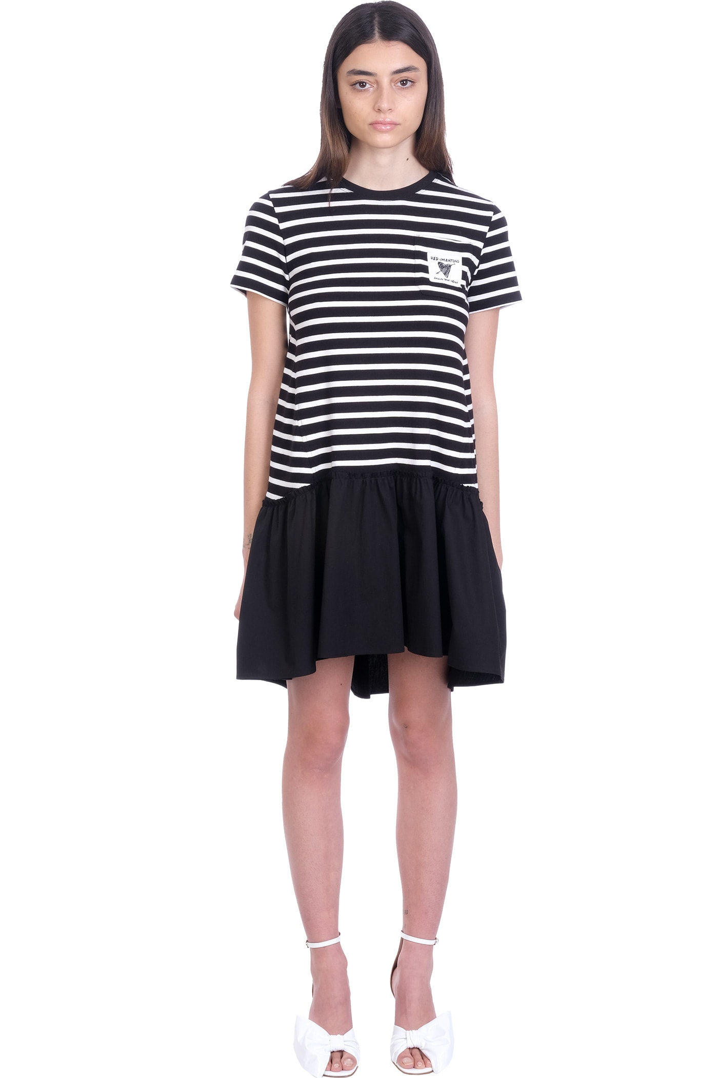 Red Valentino Cottons DRESS IN BLACK COTTON