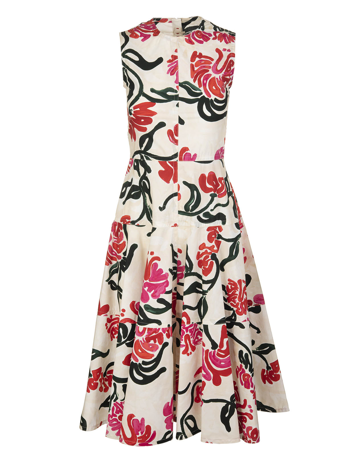 Buy Abstract Floral Print Dress online, shop Marni with free shipping