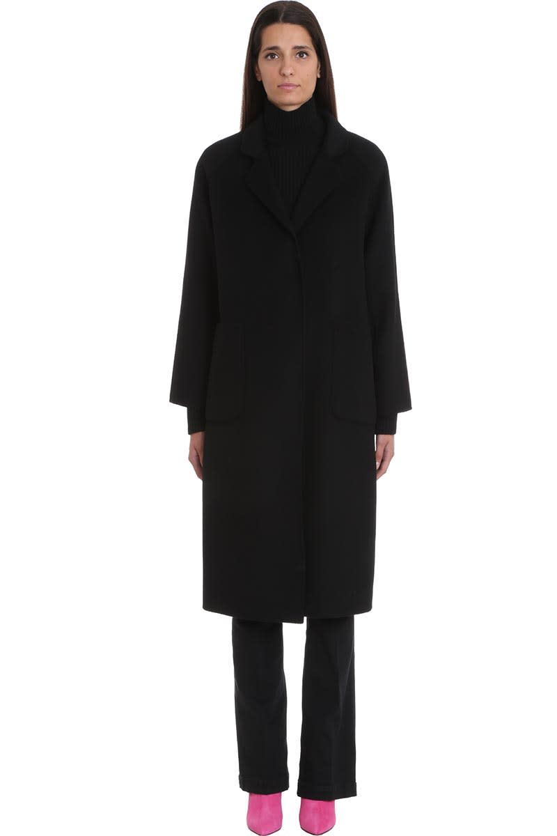 LAutre Chose Outerwear In Black Wool