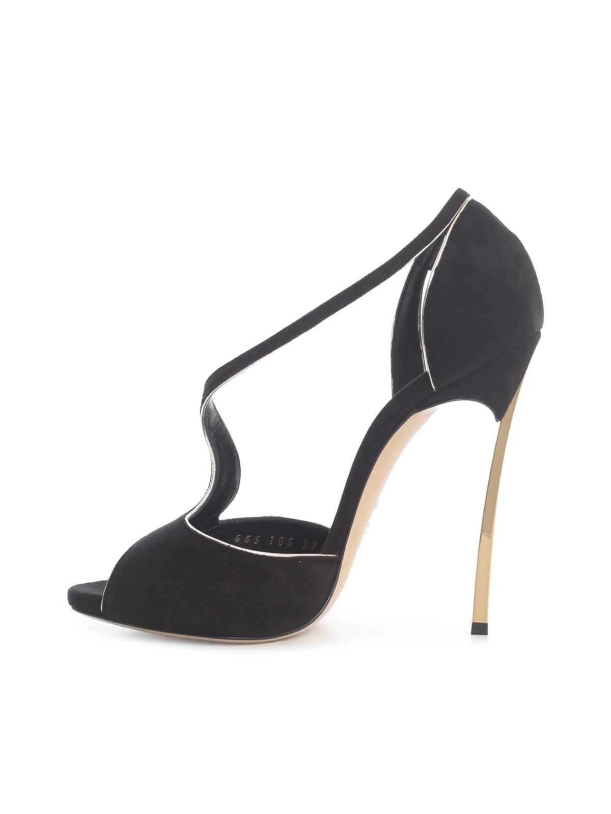 Cheap And Nice Casadei Suede High Sandals W/ Golden Heel - Great Deals